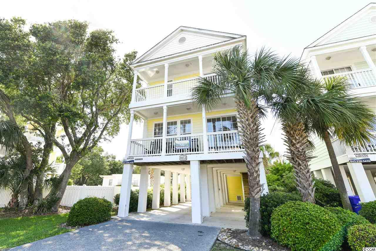 Enjoy the sun and the fun at SUNNY DAYS in Surfside Beach!  This 5 bedroom 4 bath home features an open floor plan with lots of space and its own private pool.  The first floor boasts a tiled and spacious living/dining area with a galley style kitchen.  Also included on this floor is a large bedroom with private access to its own bath.  Enjoy the cool ocean breeze from the front porch located just off the living area. Upstairs you will find space for an additional area for pull out sofa or space for a kids zone.  Three additional bedrooms each with private bath access complete the guest rooms.  The roomy master bedroom completes the second floor and includes a spa-like master bath and private balcony with views of the Atlantic Ocean.  Outside, enjoy your own private pool and plenty of space for parking and golf carts.  This home has been a vacation rental and enjoys outstanding rental income.  Don't miss seeing this spectacular beach home today!