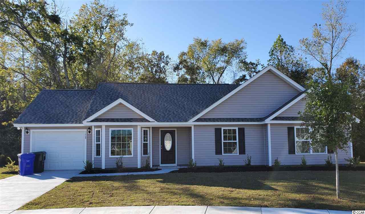 This most popular Rylee plan is an open concept floor plan that features three spacious bedrooms, 2 full baths, beautiful bay window in breakfast nook, tray ceiling in master bedroom with a nice walk in closet, upgraded flooring throughout main living areas and both baths, stainless steel dishwasher, stove and microwave.  Oak Glen subdivision is just minutes from charming downtown Conway, SC and approximately just 22 miles from the beach!  You can't get any better than this!