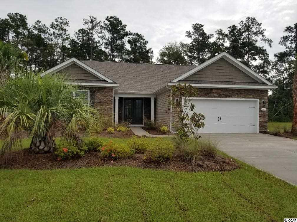 """Inlet Reserve is the place you want to call home! This is a natural gas community featuring 69 spacious homesites with private and pond views, conveniently tucked away in the heart of Murrells Inlet, yet just a short drive to championship golf courses, marinas, shopping, hospitals, beaches and the Marsh Walk where you'll find year round entertainment and award winning restaurants with spectacular views of the salt marsh and wild life.  If you are looking to downsize, upsize, or to add a pool and create your own outdoor living space, Inlet Reserve has the homesite and home for you. The popular Cumberland floor plan offers a very spacious open feel and is designed for entertaining. Lots of windows create an abundance of natural light! This is a 1 story home with a spacious double door entry, grand foyer with tray ceiling, 11' ceilings, crown molding, 5 1/4"""" baseboard, trimmed out windows. Large kitchen area with Painted Amber Glaze Maple 36"""" staggered cabinets, granite countertops and includes a large gourmet counter height kitchen island overlooking the family & dining room, pantry, tile back splash, pendant lights and stainless steel appliances. This open floor plan is perfect for entertaining friends and family. Low Maintenance durable 5"""" wood floors throughout the main living areas. Owners suite and bath offers a tray ceiling, huge walk-in closet,  walk-in tile shower and garden tub, double vanities and bowls. Split floor plan with 2 nice size guest rooms with a vaulted ceiling in the extended BR 3.Off the dining ara and LR is a 10' x 15'7"""" office with French doors. Double 8FT Sliding doors off the family room lead to a 10' x 16'9 rear covered porch with private view. EXTENDED GARAGE! Tasteful interior touches run throughout the house to finish off this must see home. New Community in popular St. James school district. Pictures are of a previous built home and model and are for representation purposes only. Ask about our included Smart Home Connection! Call and sc"""
