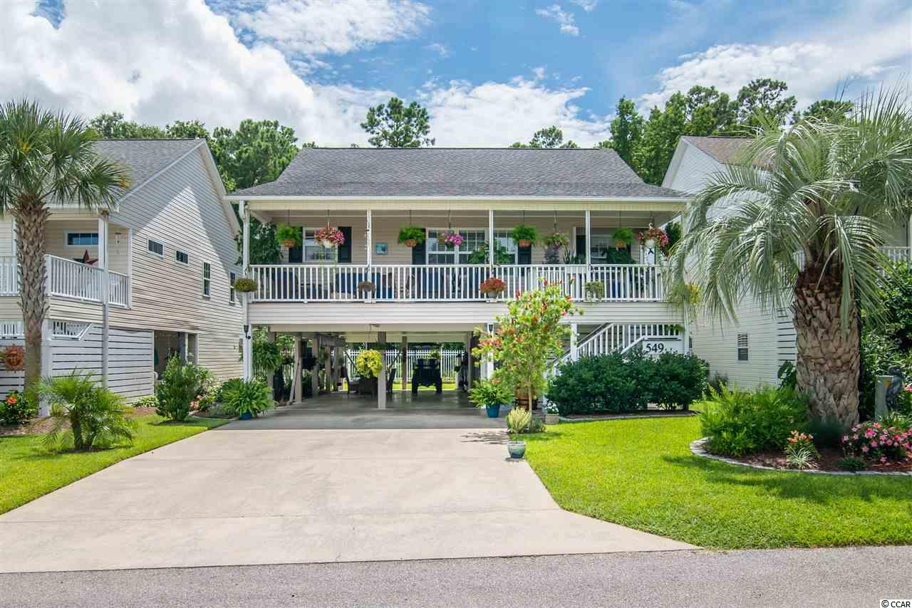 Welcome to Salter's Cove. Community Pool, Club House, tennis Courts, play ground and a golf cart ride to the beach. It is east of business 17 in a quiet residential community. Hardwood floors ,stainless appliances and granite counter tops and a new roof in 2017. Plus a bonus room. The owner has installed drip irrigation for hanging plants. Under the home you will find an outdoor family area wired for cable tv and an area for outdoor dinning. All listing information is deemed reliable, but buyer is responsible to verify. Measurements and square footage are approximate. Buyer is responsible to verify as well.