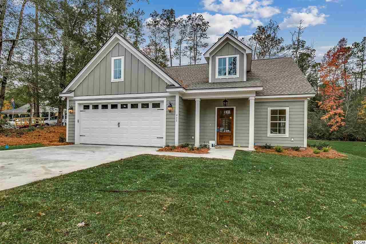 Low Country style home currently under construction in Hagley Estates. This custom built two story home has 3 bedrooms and 2 1/2 baths, the owner suite is located on the 1st floor. Superior workmanship and attention to detail will be featured in this home. Hardi plank exterior, front & back porches, interior features include Quartz counter tops, wood shaker style 42inch cabinets, breakfast bar, stainless steel appliances to include refrigerator, the owner suite features a walk in tiled shower and double vanity. Luxury plank flooring on 1st level, wood stairs to the 2nd level, ceramic tile in both full baths, carpet to be featured in the bedrooms. Hagley Estates is close to shopping, restaurants, golf courses, the Waccamaw River and the beaches of Pawleys Island. All information is deemed reliable, not a guarantee. Buyer is responsible for verification.