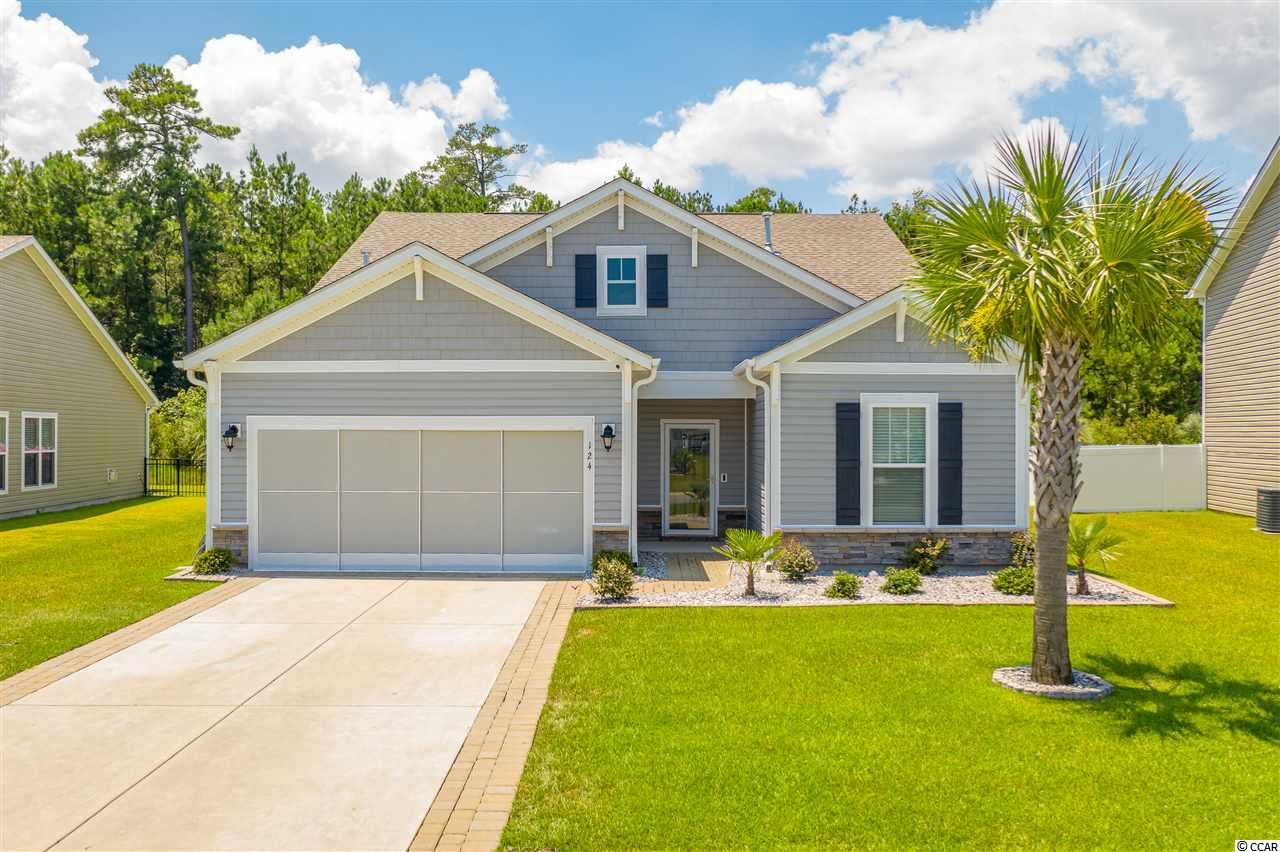 Have you been seeking a beautiful 4 Bedroom home in Myrtle Beach, South Carolina within a natural gas community that also features on site community pool all at a fair price?  LOOK NO FURTHER. The Bella Vita community is a natural gas community with a great amenity center, complete with pool and fitness area! This home is only four years old constructed in 2016!  The property features 9 ft ceiling with formal dining area, open living space, beautiful kitchen, complete with granite counter tops, 6 burner natural gas stove, pantry, beautiful backsplash, breakfast bar and nook!  The first floor master suite offers a seating area, walk in closet and large master bathroom. Also on the first level are the second and third bedrooms. Upstairs, you'll enjoy a spacious bonus room as well as a separate 4th bedroom and full bathroom.  This home offers an abundance of large closets and plenty of storage throughout the home! The backyard offers privacy fencing, natural gas BBQ area, and room to install a private pool, if desired!  Bella Vita Community is located in the award winning Carolina Forest school district and is close to medical centers, airport, schools, dining, entertainment and is a short drive to the beach! Be sure to contact the Listing Agent or your real estate professional regarding more information about this home, the community, virtual tour, floor plans and more!   All measurements and data are deemed reliable but are not guaranteed, purchaser and or purchaser's agent to verify.