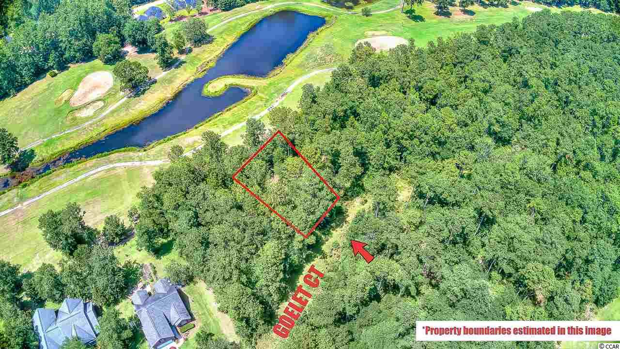 One of, if not the best view in Wedgefield with 180-degree view of the 12th Hole at Wedgefield Golf Course. Build your dream home on this 1/3-acre lot with beautiful deciduous trees including Magnolia and Oaks.  Once a rice plantation dating back to the 1700s, Wedgefield Plantation is a history lesson in and of itself as many of the old buildings still stand. Enjoy biking or golf cart rides along the beautiful Live Oak lined streets, along with social events, dining and swimming opportunities right inside the development.   Just 20 minutes south of Pawleys Island and a little more than an hour north of Charleston, Wedgefield Plantation is located in Georgetown and is minutes away from the Historic District and the gorgeous waterfront with it's quaint restaurants, small, locally-owned downtown shops and historical landmarks in every direction - some of the many treasures you will find in this lovely old place.   Goelet Road is not paved; however, a recent builder quote included road paving into the cost of home construction. Ask agent for more details!