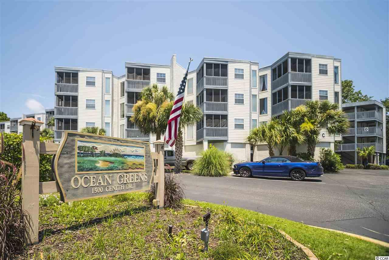 Ocean Greens 2BR/2BA condo that comes furnished.  Spacious floor plan, ceiling fans, tiled screened balcony & newer hot water tank!  Community offers: outdoor pool.  Close to Community Center, Parks, Fine Dining, Shows, Shopping & just a short drive to the beach!