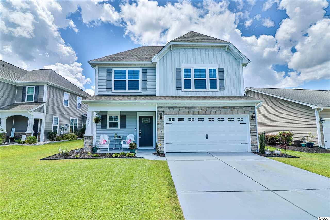 Great neighborhood outside of the beach, but just a quick drive away! This ENERGY EFFICIENT house has 4 large bedrooms and 3 1/2 baths. The loft area upstairs is a great place to set up as a playroom for kids of any age. The master bedroom is right at the bottom of the stairs and has a large private bathroom with a walk in shower, garden tub, and dual vanities, plus a walk in closet! There is a tankless hot water heater to make sure your never run out of hot water! The kitchen is modern with granite counter tops, subway tile, and stainless appliances. The Carolina room is bright and looks out at the fully fenced backyard with lovely landscaping. The rooms are spacious and there is a ton of storage to meet anyone's needs! Clear Pond is a natural gas community with two pools, a clubhouse, fitness center, and playground!