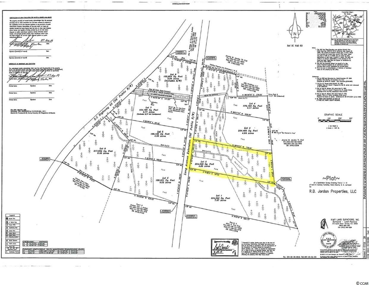 4.69 Acs on Long Ave Ext. Mostly wooded. Pond on property. Water and Sewer to site. Just outside of City limits. Only restricted to stick built homes and lots can't be subdivided less than 1.5 Acs.