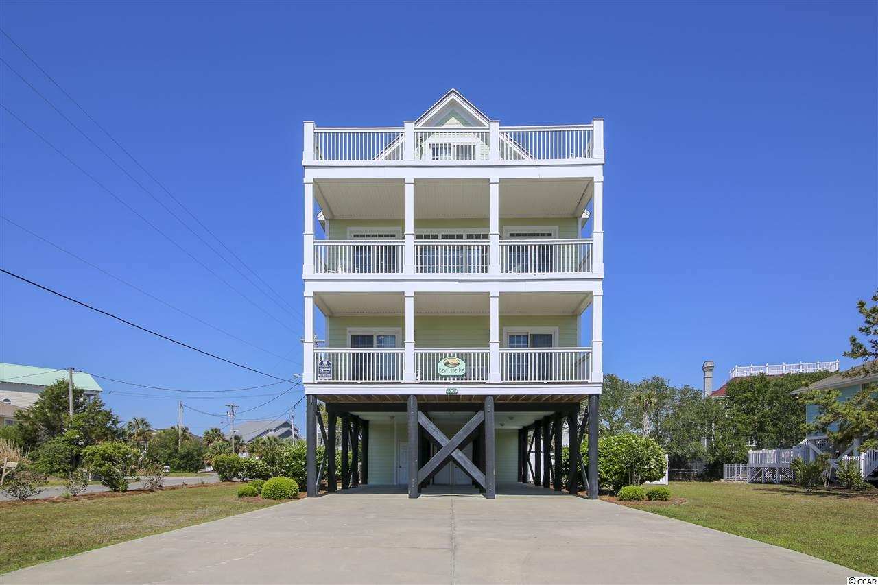 LOCATION, LOCATION! Imagine beautiful views of the ocean AND Inlet from your third floor sundeck.  Key Lime Pie is a spacious 8 bedroom, 7 bath beach home located on the quiet south end of Garden City Beach.  Key Lime Pie boasts 3 master suites, 3rd floor game room, ELEVATOR (servicing all floors), private pool, kiddie pool and a hot tub! Several porches to enjoy the salt air and breezes.  Well maintained with hardwood flooring in main areas and plenty of room to accommodate up 22 people.