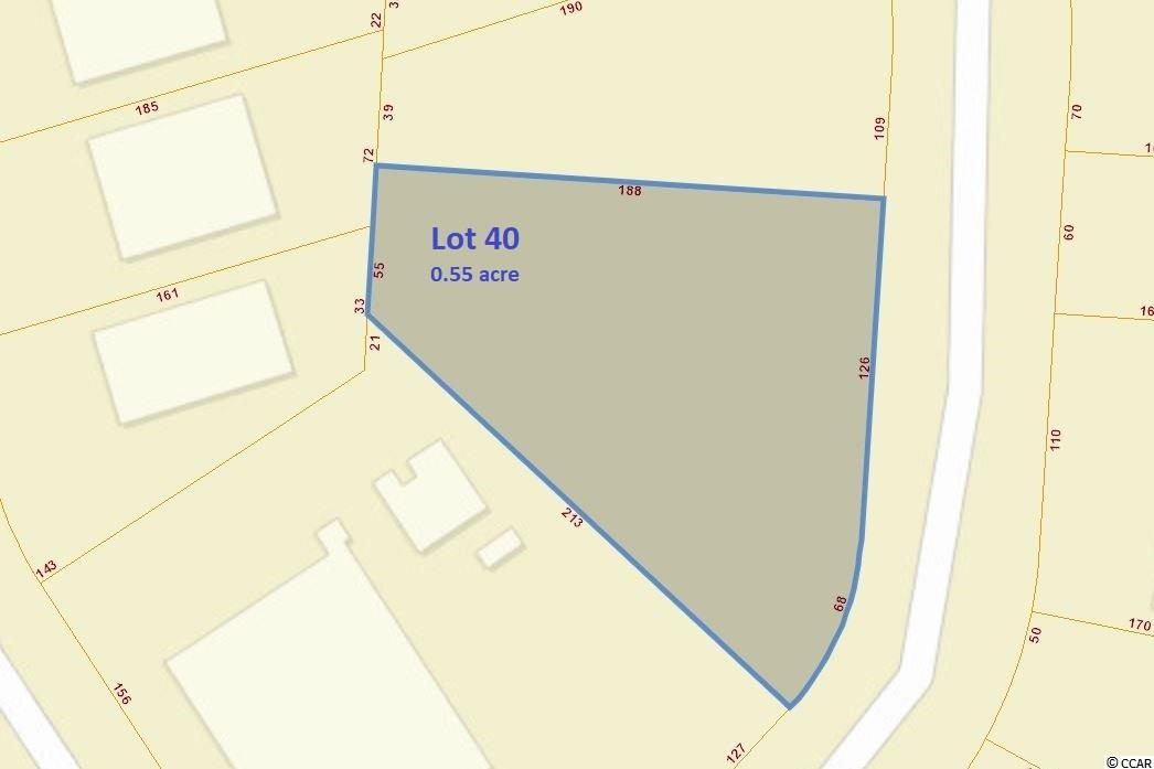 """This 0.55-acre property with 189' road frontage is located in Prather Park POA, a business park zoned for commercial buildings and usage. Conveniently located near the Socastee Swing Bridge and just off of Forrestbrook Road. Great central location and easy access to the area's major roadways; SC Hwy 544, SC Hwy 31, Hwy 707, Hwy 17, the Intracoastal Waterway and the Myrtle Beach airport. This is a great location for an office/warehouse. Surrounded by retail and close to residential communities. Owner Financing is Available for Qualified Buyers. The property is zoned Retail Consumer Services (RCS): """"Allows uses focused on commercially operated recreational activities public consumes, purchases or participates in as part of their day-today activities."""" Road to property is paved & maintained by the POA. Connections for Electricity and water/sewer are available. Owner is willing to consider Leasing the property for site storage (ex. contractor equipment, container storage, additional parking, towing lot)."""