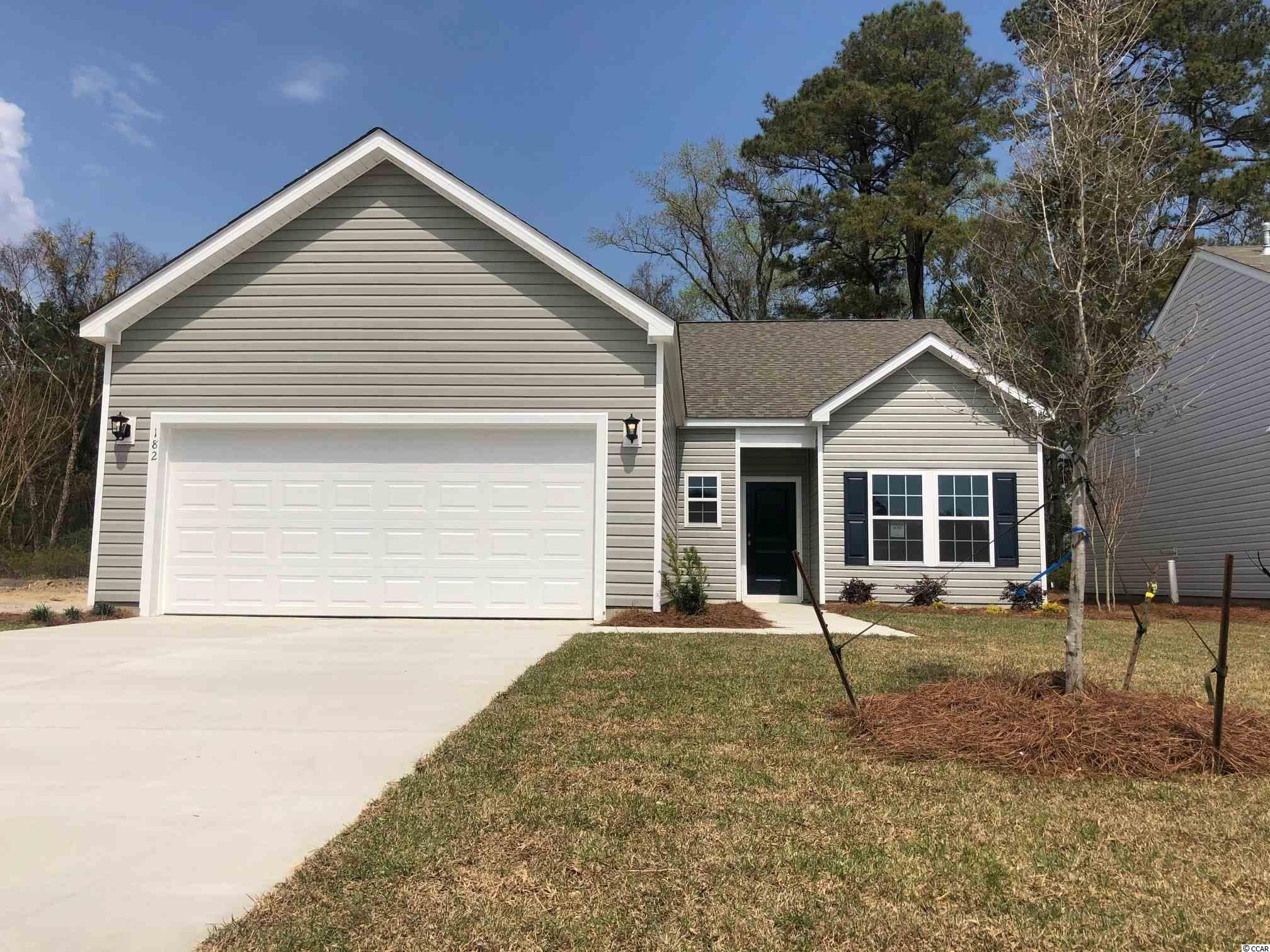 This is a to be built home, taking reservations to build in new phase.  Stop by Sales Center for details.   Hampton Park is a natural Gas Community located on 707 near 544. Easy access to 31, fantastic location! We are located minutes from beaches, shopping, golf, restaurants, medical facilities and more. This is a small 80 home community that will feature lots that view the pond, as well as backyards that have wooded views; a pool and sidewalks. *Photos are of model home and do not reflect color selections and options of actual unit for sale.*