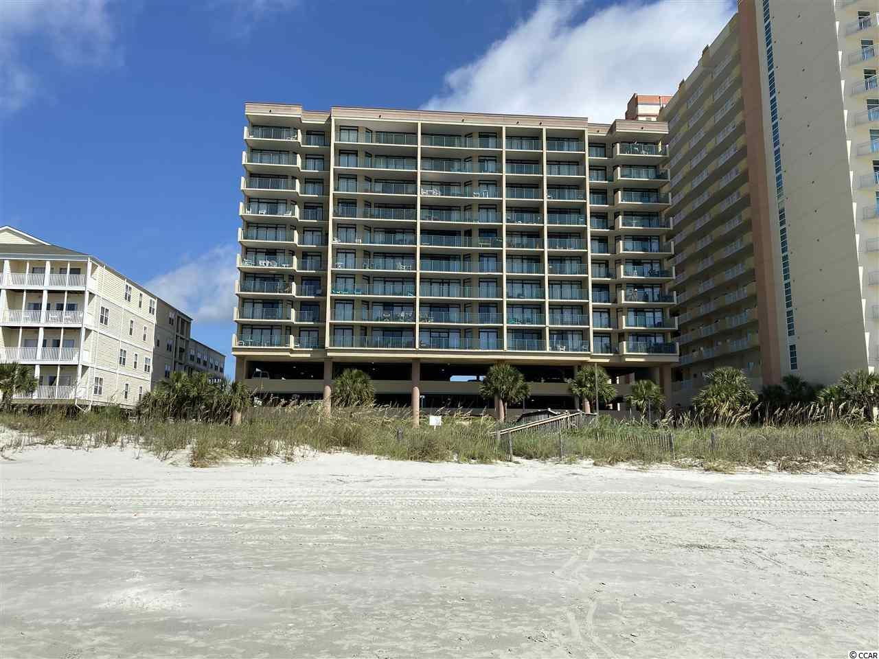 Oceanfront, 3rd floor, exceptionally spacious, 1 bedroom, 1 & a half bathroom condominium in popular The Verandas. Beautifully & expensively redecorated. Completely gutted & renovated Oct., 2017. New in 2017: stainless steel Frigidaire Gallery appliances (refrigerator, dishwasher, stove, microwave), garbage disposal, cabinets in kitchen & bathroom, granite counter tops in kitchen & bathrooms, sinks & toilets in bathrooms, paint throughout, high end COREtec HD Engineered Vinyl Plank Flooring, custom made quality drapes, plantation shutters, & popcorn ceilings scraped to be flat ceilings. The tub did not need replacing & was not replaced. New Aug., 20, 2020: in living room, sofa bed, chair, end tables, & coffee table, & in bedroom, dresser, headboard, & mattress & box springs. Owner has used the condominium occasionally but has never rented it. The condominium looks in pristine condition. The Verandas has outdoor swimming pool, lazy river, & whirlpool spa. Easy walking distance to seasonal amusement ride park, to Main Street with its shops, restaurants, pavilion, ice cream shop, & shag clubs, & to McLean Park with its lake, walking paths, playgrounds, tennis courts, & covered & uncovered picnic areas. Square footage, features, amenities, zoning, etc. not guaranteed. Buyer responsible for verification.