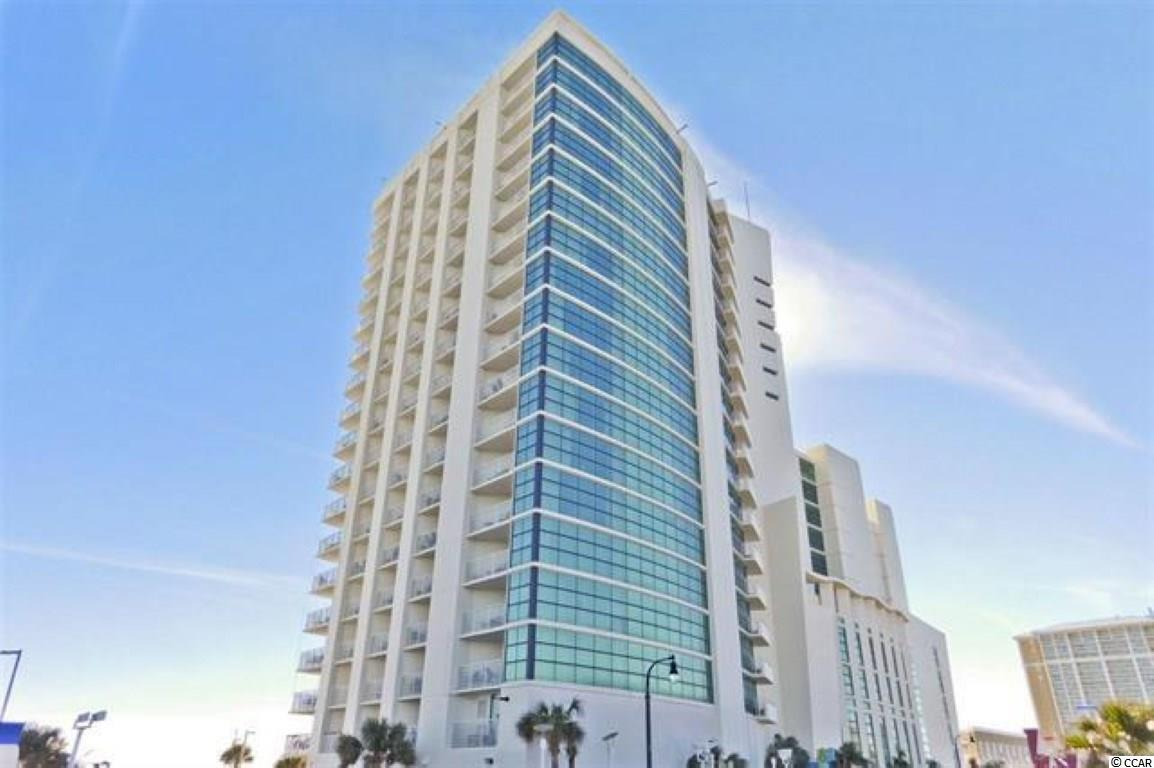 Don't miss your opportunity to own a piece of Paradise. This 1 bed/1bath Ocean view Angle unit located on the 18th floor. It comes fully furnished and amazing views! This unit is a true 1 bedroom unit features a full kitchen with stainless steel appliances. There are 2 flat-screen TVs, one in the bedroom and another in the living room.  The living area has a Murphy Bed. This resort has great amenities including indoor & outdoor pools, hot tub/spa, kiddie pool, and lazy river. Located in the heart of the Grand Strand close to shopping, dining, entertainment, golf and area attractions.