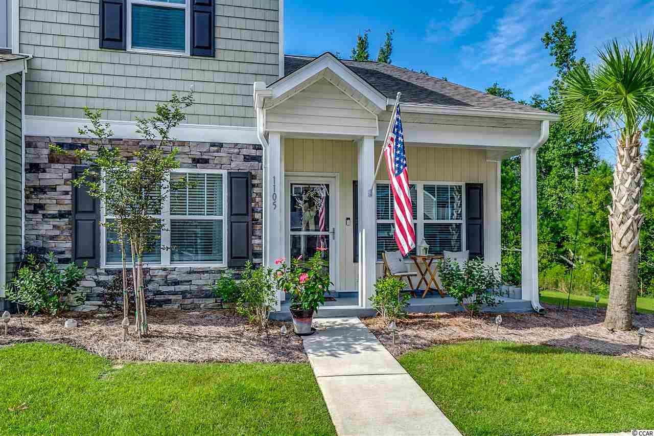 Amazing well taken care of End Unit Townhome with DOWNSTAIRS MASTER! This lovely home has large kitchen with Stainless Steel appliances, custom backspash, lots of granite counter space and cabinets galore!  Gorgeous with many bells and whistles including but not limited to, Ring Door Bell, Huge upstairs storage closet, and a Carolina EZ Breezy Room out back. This four season EZ Breezy room has the most lovely view of the green way backing up to a private tree line which can be enjoyed all year round. 10x22 ft concrete patio for your garden and grill. Storage under the stairs and ceiling fans in every bedroom, upgraded HVAC with EcoBee (which allows you to program HVAC by phone) and more. This is a must see that will not last long.