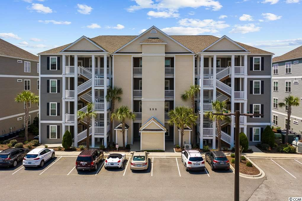 Welcome home to this gorgeous third floor end unit condo that has been meticulously maintained and has tons of upgraded features. The Village at Queens Harbour is a highly desirable community; located just a short drive to the airport, dining, all the entertainment Myrtle Beach has to offer and last but not least, it's just a short 4 mile drive to the beach. Some of the amazing features of this home include real hardwood floors, french doors leading to the master, granite countertops, ceiling fans in all the bedrooms and so much more. Relax on your screened in balcony and watch the gorgeous sunset to end each day. Schedule a showing today to see this stunning home in person.