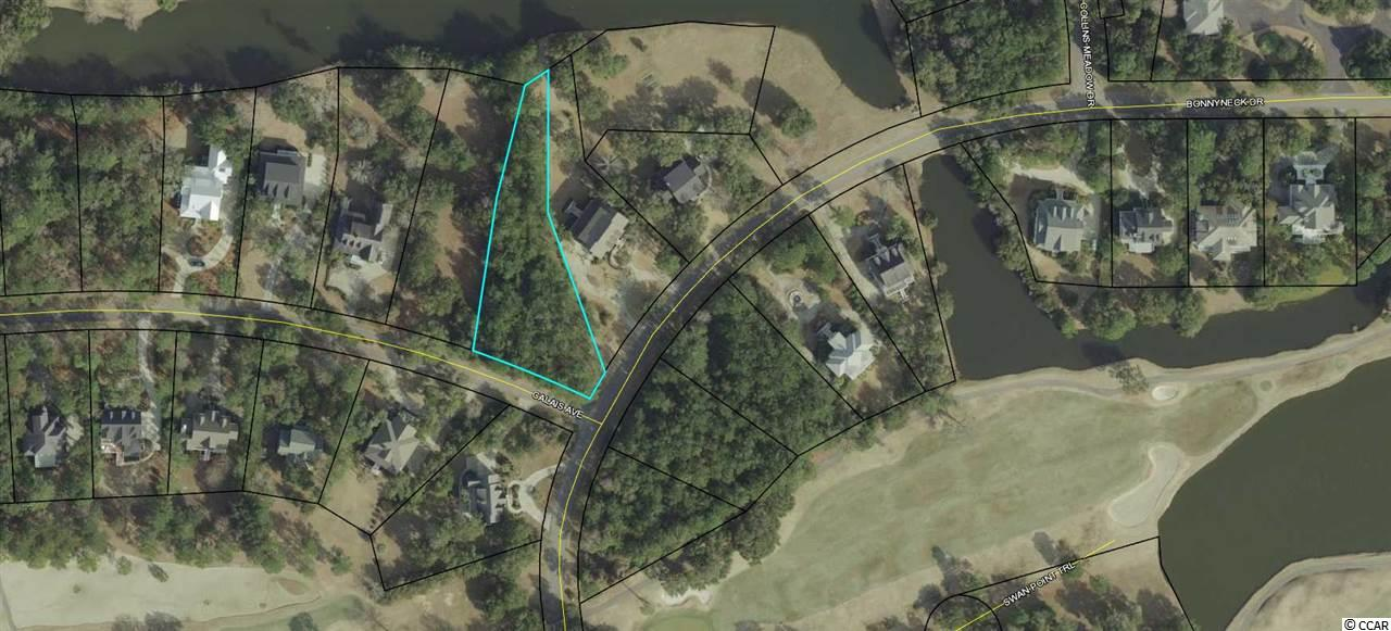 Large corner lot with lake views located nearby golf clubhouse.  Debordieu is a private golf cart friendly beach community offering championship golf course & tennis courts, pools, walking/biking paths, casual/fine dining restaurant, and boat ramp access at North Inlet offering world class fishing opportunities.
