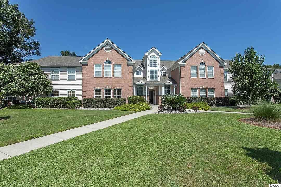 This is a well maintained first floor 3 bedroom, 2 bath condo located in the popular Riverwood community.  The condo features Life Proof flooring in kitchen, living area and hallway.  All three bedrooms have just been painted.  HVAC replaced in 2019.  Refrigerator, washer dryer, water heater and garbage disposal replaced in 2018. This condo is located across from Waccamaw Hospital and bike path conveniently located with direct access to the Murrells Inlet Marsh Walk, less than a mile away. Amenities include clubhouse, basketball court, pool and tennis court.  Beautiful lake right out back with patio and chairs for relaxing in the afternoon.  SOLD AS IS!