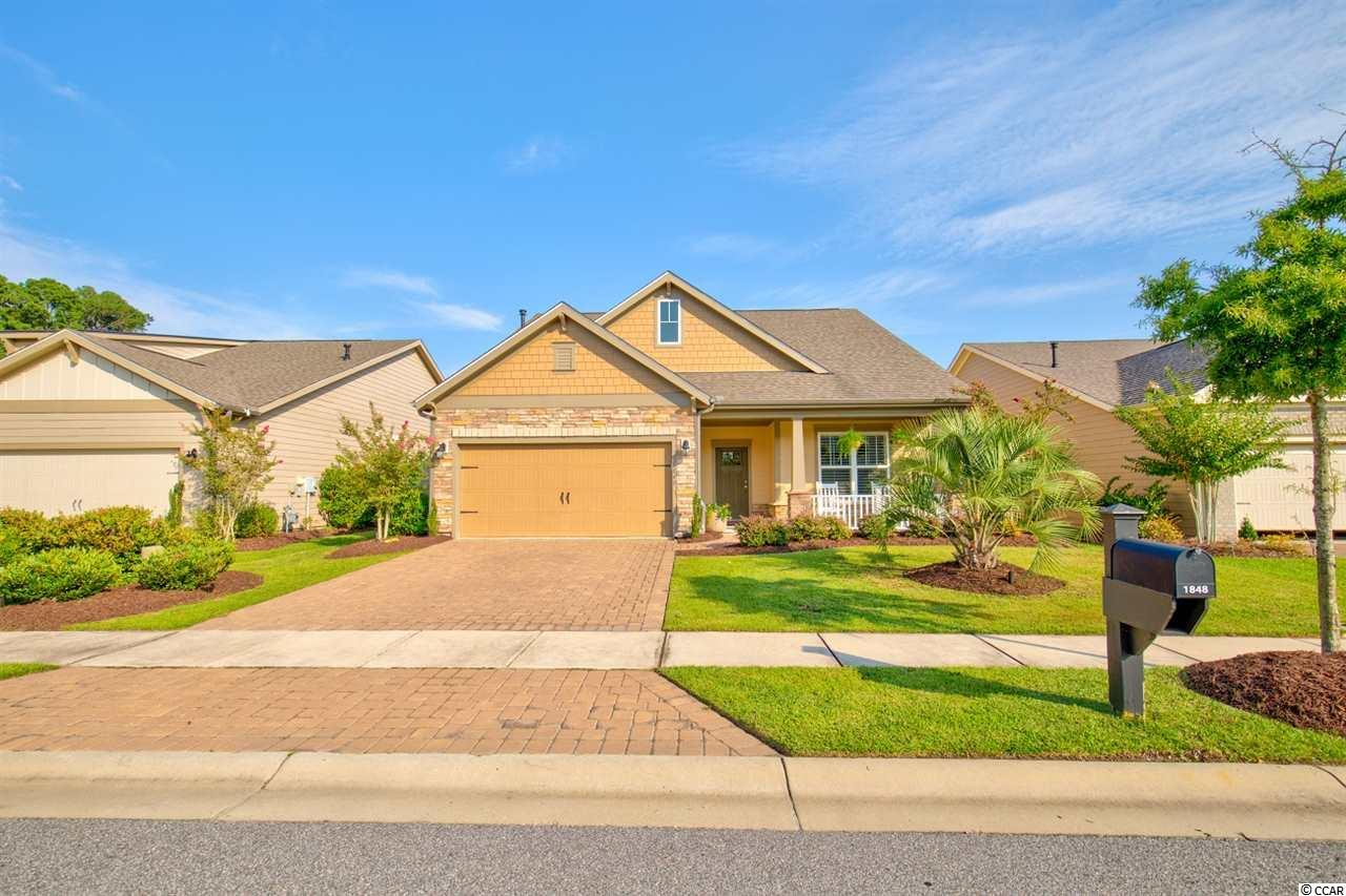 """Immaculate single level home ready for you to just move right in! This is the popular Beazer """"Augusta"""" floor plan.  Open kitchen, dining, and living areas; stainless/granite/white kitchen; wood floors throughout main living areas; tile in bathrooms and laundry room.  The master bathroom has the """"snail"""" style walk-in shower.  The flex room has been used as a study/office, but can be used for whatever purpose you like. Relax in rockers on the front porch or on the generously-sized screened back porch. It's all about the lifestyle! This home boasts myriad seller-added extras: Ceiling fans in all bedrooms, flex room, family room and screened porch; Plantation shutters in every room; custom shades on screened porch and back slider; efficient gas Rinnai instant hot water heater; irrigation system; fenced back yard; and uplighting!  Please enjoy the virtual tour of this home. The square footage is approximate and not guaranteed. The Buyer is responsible for verification. Owner is SC realtor.        *Open House August 29 Saturday 11:00-2:00*"""