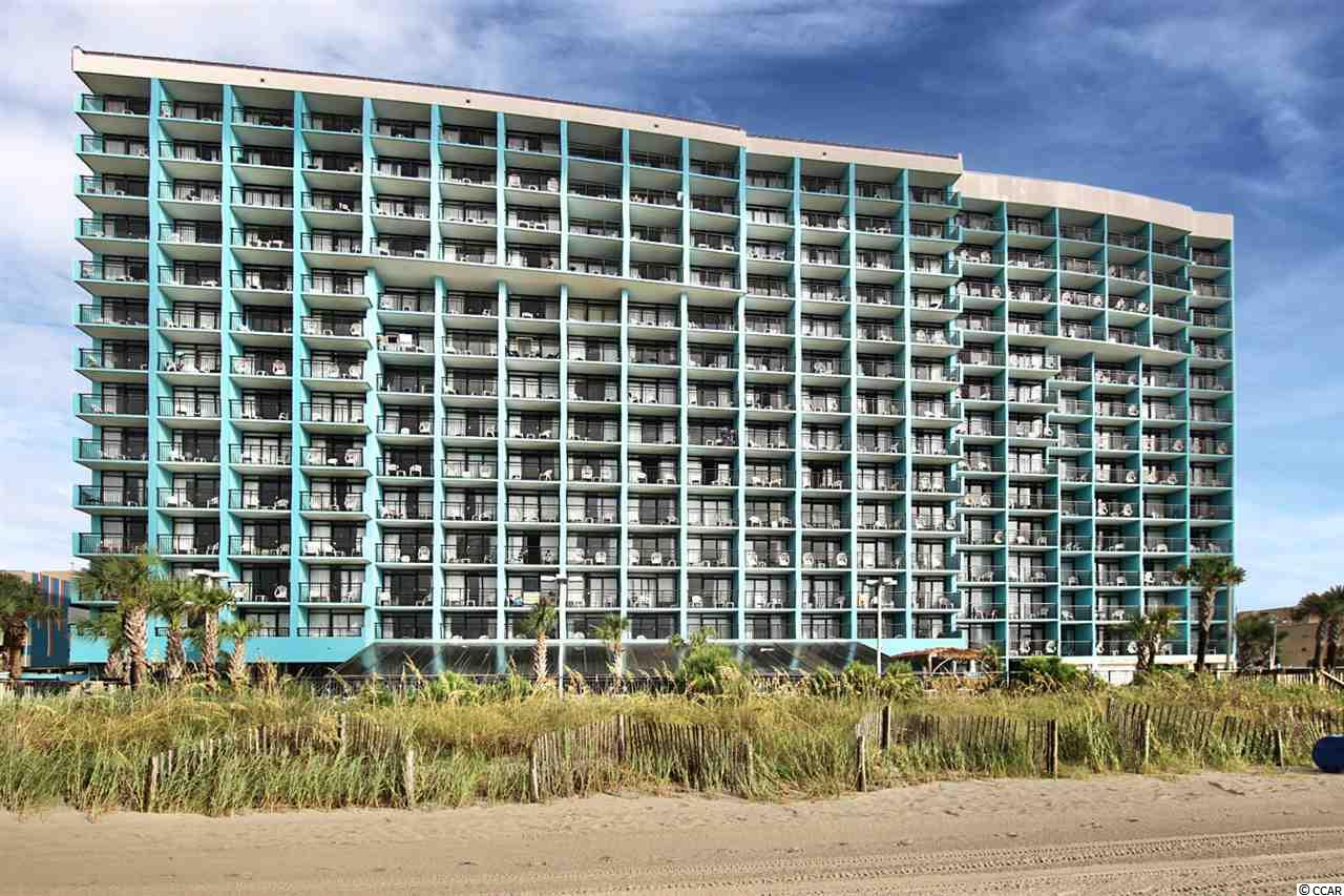 Sit on your private balcony and enjoy the ocean view in this charming condo in the heart of Myrtle Beach. This 1 bedroom 1 bath unit features an inviting living/dining room combo with a Murphy bed, fully equipped kitchen, bath with vanity, a comfort station, shower/tub combo, and a bedroom with two beds. The Landmark Resort includes 1st class amenities such as wireless internet, water park, both indoor & outdoor pools, lazy rivers, hot tubs, waterfalls, game room and mini golf. There is also an exercise facility, restaurant, lounge, conference rooms, gift shop, business center on-site, pool bar, mini mart, ice cream parlor, saunas and more! Great south end location, close to Market Commons, Coastal Grand Mall, MB StatePark, golf and major attractions. Broadway at the Beach & airport just a few miles up the road. Located on Ocean Boulevard with an indoor crosswalk connecting the parking garage. Popular family getaway resort or rental investment property.
