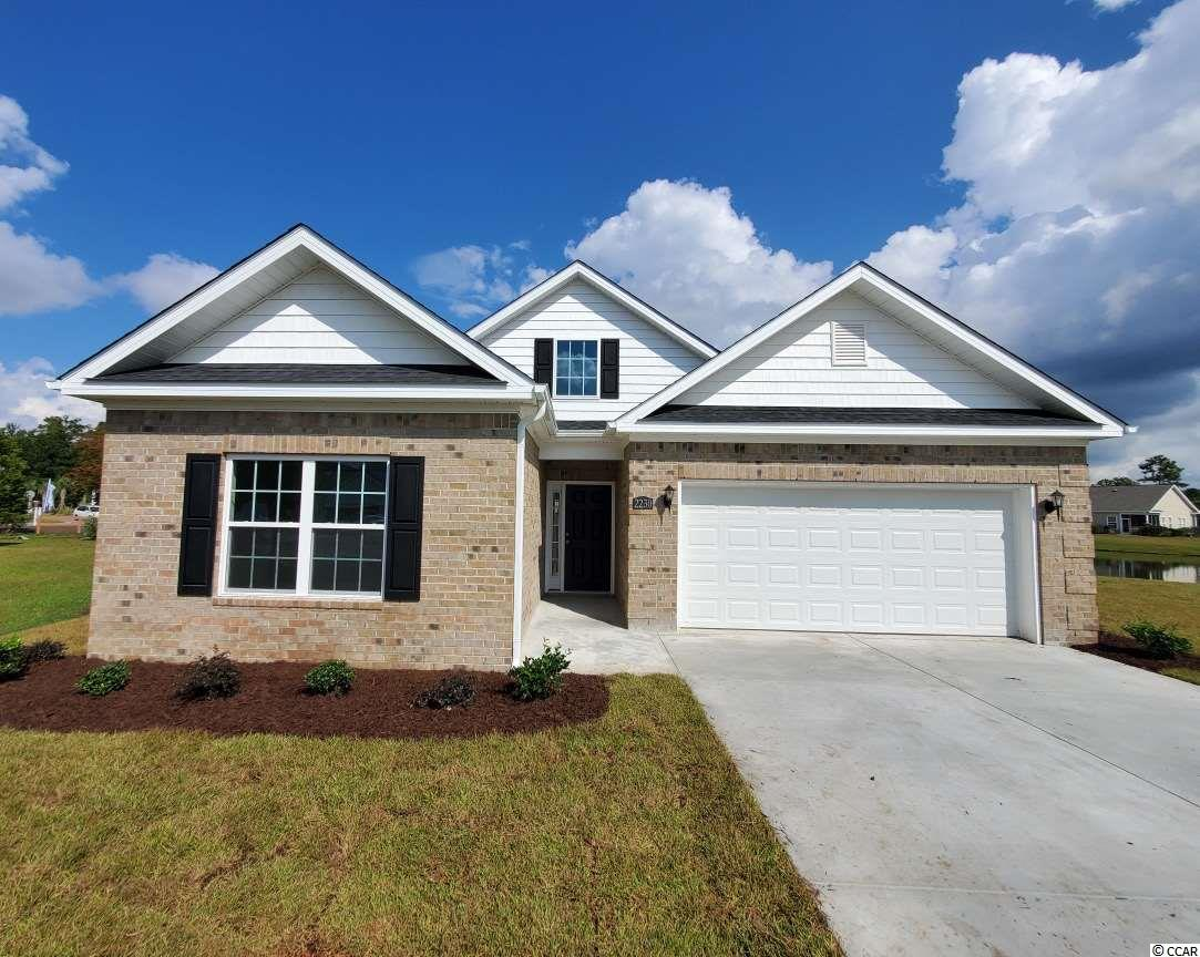 What a view! Take a look at this brand new home being built on a quiet cul-de-sac in Deerfield. The home features an open floor plan with a heated/cooled Carolina room off the rear. There are 3 bedrooms, 2 full bathrooms. The home will feature granite counter tops and stainless steel appliances. This lot has a large side yard perfect for a pool! You will absolutely not find a better view of the lake than on this property. Located a short golf cart ride to Surfside Beach.