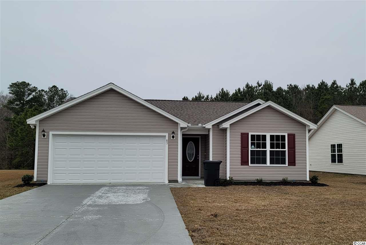 The Sewee Model is a one level home with 3 BR 2 Bath, 1300+/- heated sq. ft.  with an open floor plan that features a spacious and comfortable kitchen overlooking the living room. This home feature includes but are not limited to: Low Maintenance Exterior Vinyl Siding. 30 Yr - Architectural shingles , Low E- Vinyl windows. Open Kitchen with Stainless Steel Appliances, Spacious Bedrooms,  5 ft. walk-in shower in Master Bathroom -  cultured marble vanity top in bathrooms. Covered rear porch with additional grilling Patio. Pictures are of a similar plan model home and are for illustration purposes only. Beverly homes offers home customization and floor plan changes. Georgetown Estates is a premier community conveniently located along HWY 521,  easily access both  downtown Andrews and the Historic Georgetown, SC.  sidewalks wind throughout the community.  Huge oaks and beautiful mature trees surround this gorgeous new community. Come experience the beautiful and sweet life that the low country of South Carolina and Georgetown Estates has to offer! Beverly Homes is a equal opportunity Builder.