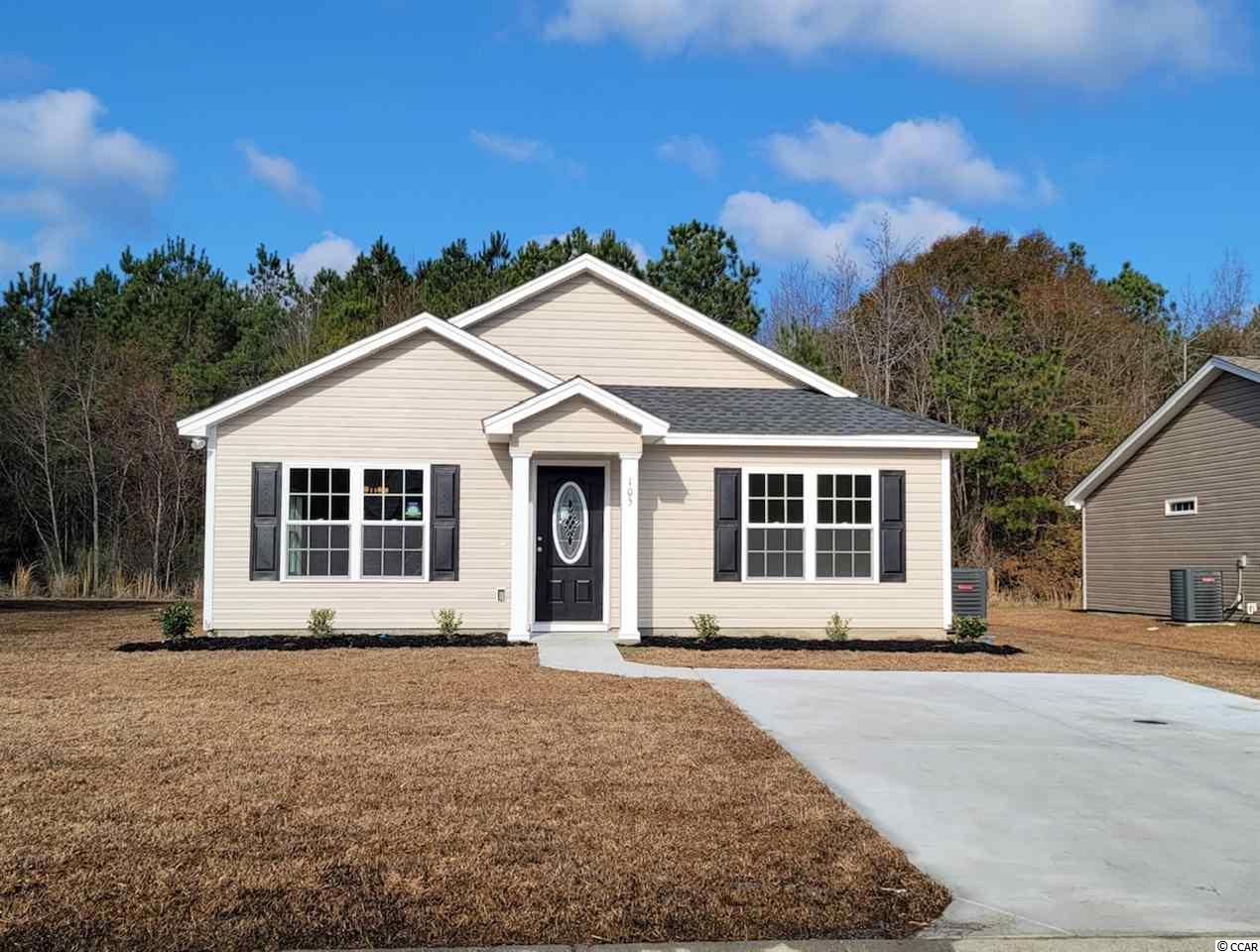 The St. John Model is a one level home with 3 BR 2 Bath, 1200+/- heated sq. ft.  with an open floor plan that features a spacious and comfortable kitchen overlooking the living room. This home feature includes but are not limited to: Low Maintenance Exterior Vinyl Siding. 30 Yr - Architectural shingles , Low E- Vinyl windows. Open Kitchen with Stainless Steel Appliances, Spacious Bedrooms,  5 ft. walk-in shower in Master Bathroom -  cultured marble vanity top in bathrooms. Pictures are of a similar plan model home and are for illustration purposes only. THIS BUILDER offers home customization and floor plan changes. Georgetown Estates is a premier community conveniently located along HWY 521,  easily access both  downtown Andrews and the Historic Georgetown, SC.  sidewalks wind throughout the community.  Huge oaks and beautiful mature trees surround this gorgeous new community. Come experience the beautiful and sweet life that the low country of South Carolina and Georgetown Estates has to offer! This builder is a equal opportunity Builder.