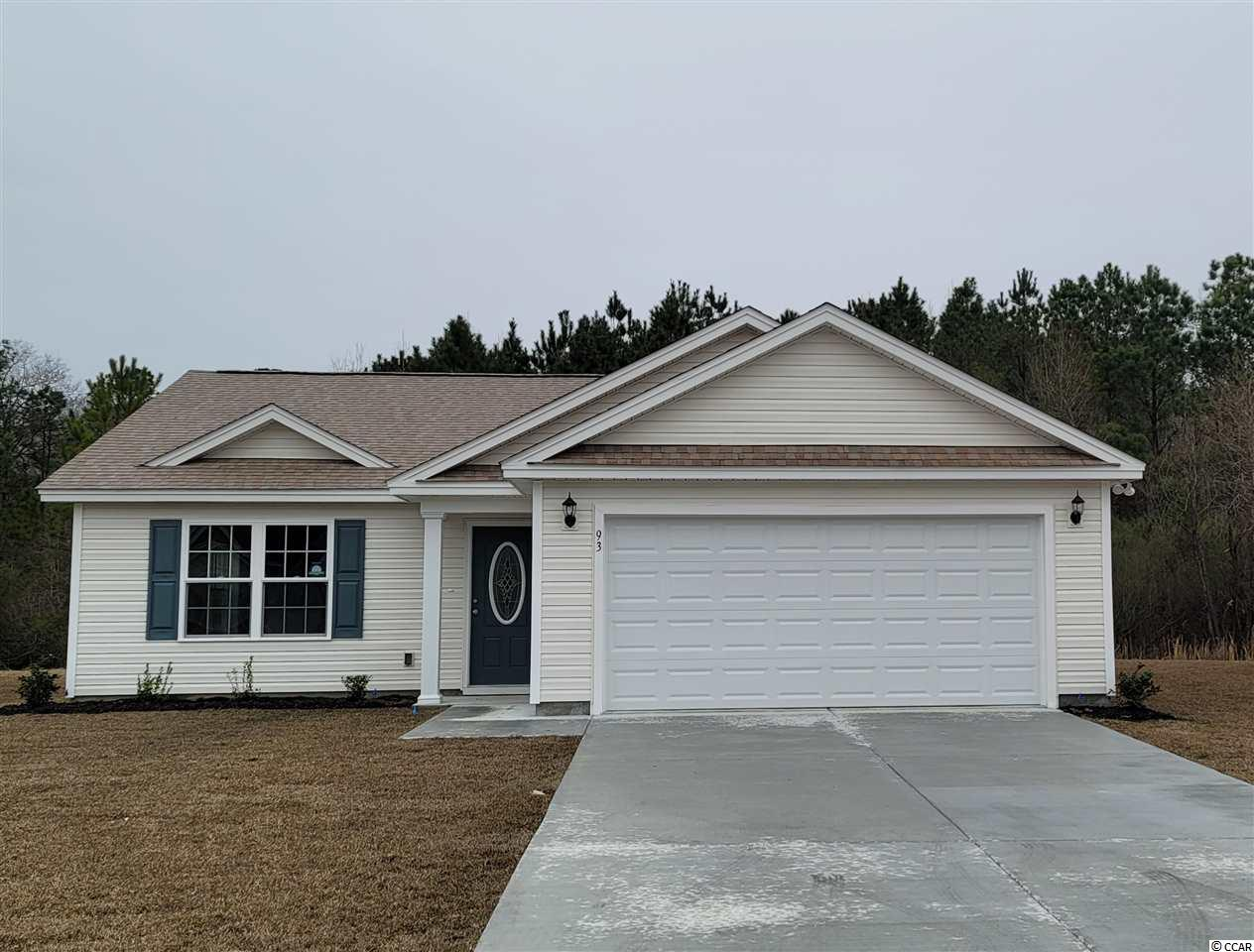 The Belle Model is a one level home with 3 BR 2 Bath, 1200+/- heated sq. ft.  An open floor plan that features a spacious and comfortable kitchen overlooking the living room. This homes features includes but are not limited to: Low Maintenance Exterior Vinyl Siding. 30 Yr - Architectural shingles , Low E- Vinyl windows Large 2 Car Garage. Open Kitchen with Stainless Steel Appliances, Spacious Bedrooms,  5 ft. walk-in shower in Master Bathroom -  cultured marble vanity top in bathrooms. Pictures are of a similar plan model home and are for illustration purposes only. Beverly homes offers home customization and floor plan changes. Georgetown Estates is a premier community conveniently located along HWY 521,  easily access both  downtown Andrews and the Historic Georgetown, SC.  sidewalks wind throughout the community.  Huge oaks and beautiful mature trees surround this gorgeous new community. Come experience the beautiful and sweet life that the low country of South Carolina and Georgetown Estates has to offer! Beverly Homes is a equal opportunity Builder.