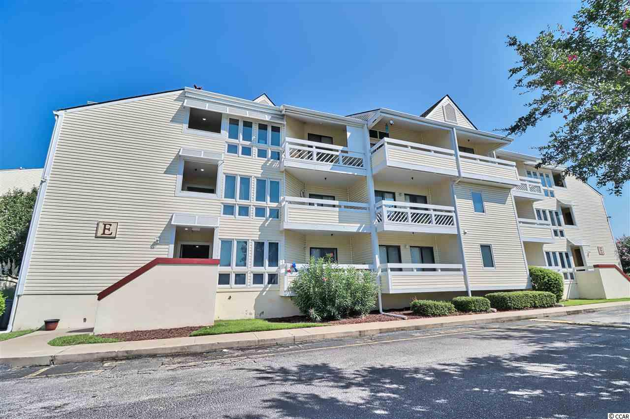"Great one bedroom end unit on first floor in popular location. Onsite tennis court and swimming pool. Short drive to beach and within walking distance to the North Myrtle Beach Community Complex. Newly painted & carpeted. New appliances in kitchen. HVAC replaced this year. Laundry closet with hook-up for stack washer. Dining area has large bay window/alcove with view of trees. Large patio measures 13'8"" by 5'10"". Paved sidewalk off patio leads directly to the community pool just steps away."