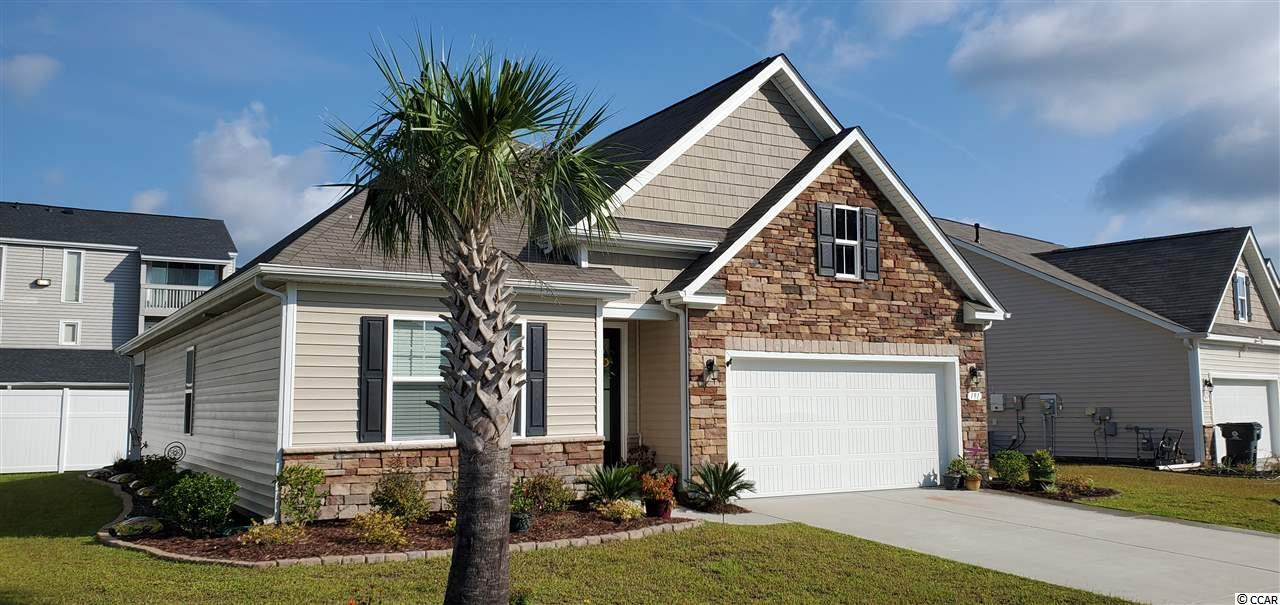 Golf cart friendly community! 1.1 mile from the beach. New DR Horton neighborhood, just off Platt Blvd, near Plantation Resort. This is the Claiborne floor plan built in 2018. It has 4 bedrooms/2 full baths, granite counter tops, beautiful tile floors, carpet in bedrooms, covered rear porch and natural gas. The kitchen currently has electric flat top stove but there is also a gas hook up for the stove too. Energy efficient gas hot water heater and furnace. 2 car garage. Better than new!