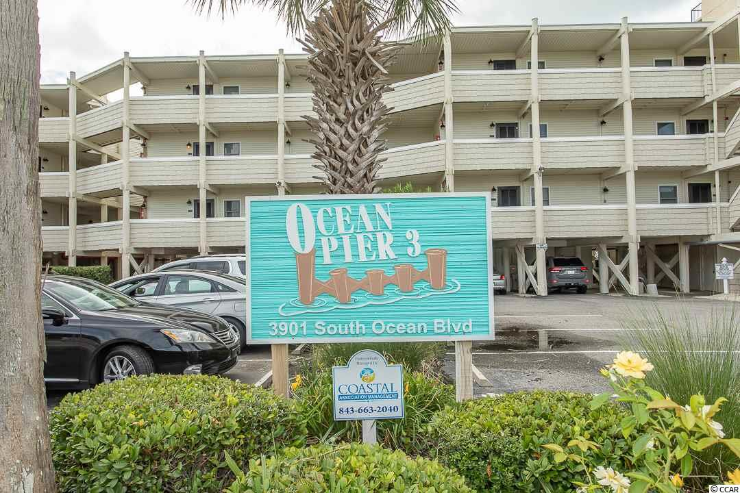 Don't miss this rare opportunity to own this Top Floor, Oceanfront 2 bedroom, 2 bathroom unit in Ocean Pier III, located in the heart of Windy Hill. This unit has not been used as a rental. Unit features a spacious open floor plan of the main living areas. The kitchen features a breakfast bar, while the living area has access to your 3rd floor private oceanfront balcony! The master has an ensuite and access to the balcony as well! Enjoy the sounds of the ocean from you private balcony. Host family or friends with the 2nd bedroom and bath. Unit is equipped with a washer and dryer for convenience and allows for packing light. The outdoor storage unit is very generous in space and comes with the unit.  Enjoy walks in the sand, playing in the ocean or sunbathing on the deck of the inground swimming pool. Conveniently located near all of the Grand Strand's finest dining, shopping, golf, and attractions. Whether you are looking for a second beach home or your next investment opportunity, you won't want to miss this! Schedule your showing today!  Enjoy our 3D virtual tour!