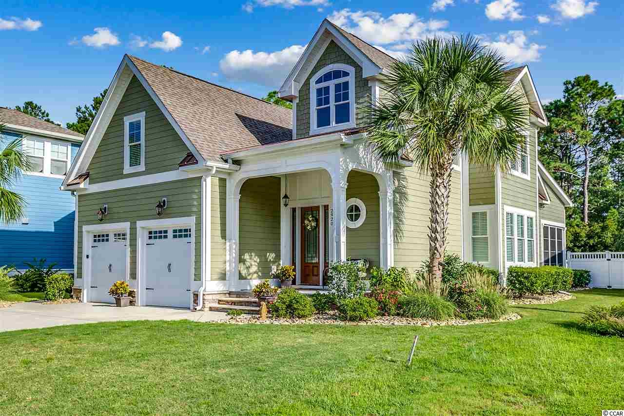 Looking for the perfect home in a premier Carolina Forest community?  Want to live in a great cul-de-sac surrounded by wooded preserve?  Is quality of construction of the utmost importance to you?  Then DO NOT pass up the opportunity to see this home and make it yours!!! Custom, coastal cottage home located in a quiet cul-de-sac, backed by state preserve.  This 4 bedroom, 3 1/2 bath home will not disappoint!!!  Built by a premier Waterbridge builder this home has it all, from impeccable workmanship and attention to detail to a stick built structure with 2x6 wall construction and ample storage space.  An open floorplan allows for tranquil family gathering and great entertaining.  The first floor master suite is a dream with tray ceilings and access to an all season lanai.  The master bath has impeccable workmanship and is complete with granite countertops, double sinks, a garden tub and custom shower.  The kitchen with its exquisite finishes, backsplash and stainless steel appliances overlooks the dining area, great room and all season lanai with a view of a beautiful fenced in yard complete with stone beds, landscape up lighting and hot tub for endless hours of rest and relaxation. Three large bedrooms, two baths, a large bonus room and ample storage complete the second story.  Upgrades such as central vacuum, water filtration system and a double water meter are just the beginning of a long list. So, if cul-de-sac living in a custom home in one of the most sought after Myrtle Beach communities is what you are looking for, then schedule a showing today and let's make that dream a reality!!!