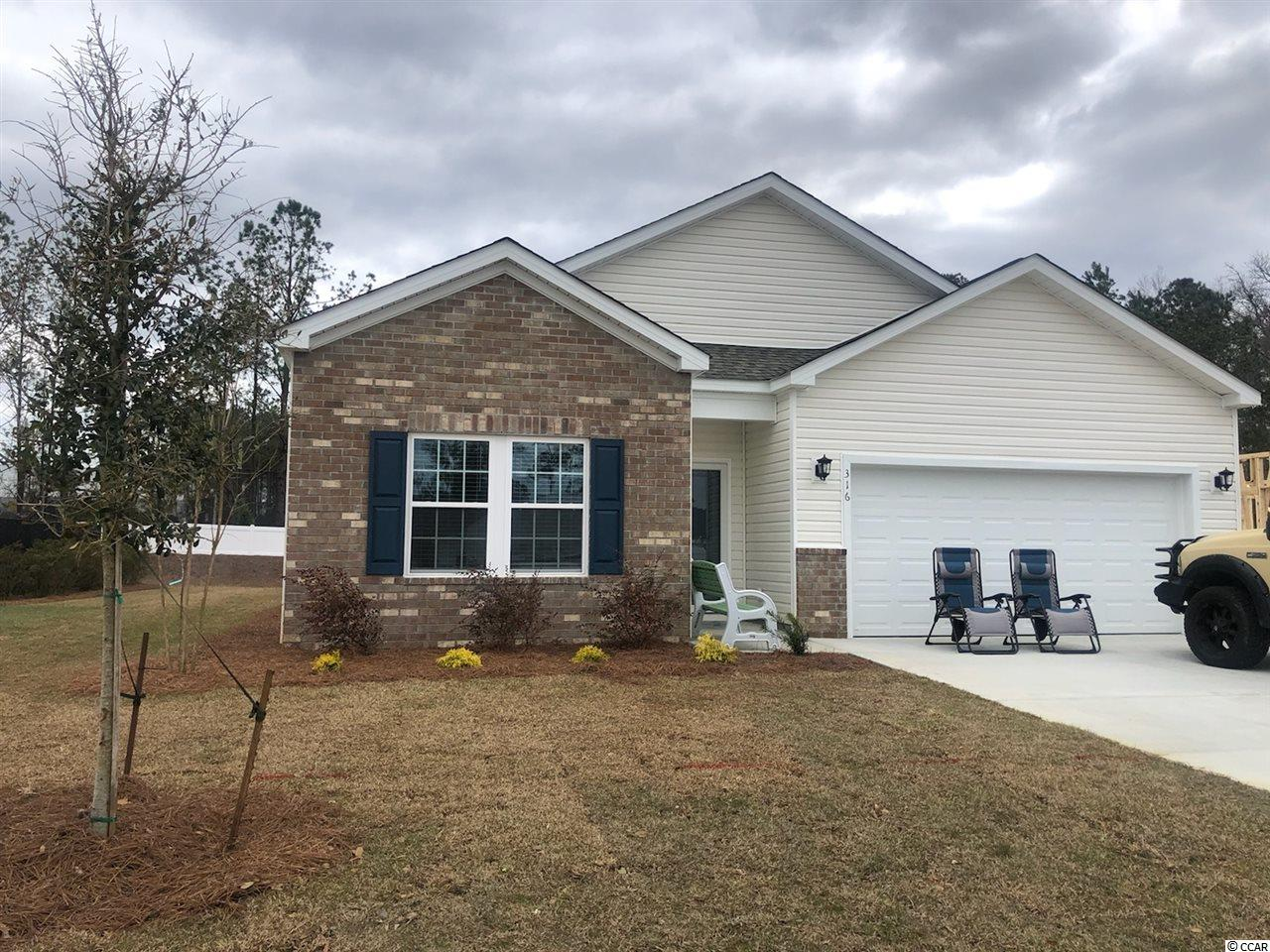 Hampton Park is a natural Gas Community located on 707 near 544. We are located minutes from beaches, shopping, golf, restaurants, medical facilities and more. This is a small 80 home community that will feature lots that view the pond, as well as backyards that have wooded views.  This 4 bedroom home features vinyl plank flooring, white painted cabinets, granite countertops, and a large screened porch with a great view of the pond!   *Photos are of model home and do not reflect color selections and options of actual unit for sale.*
