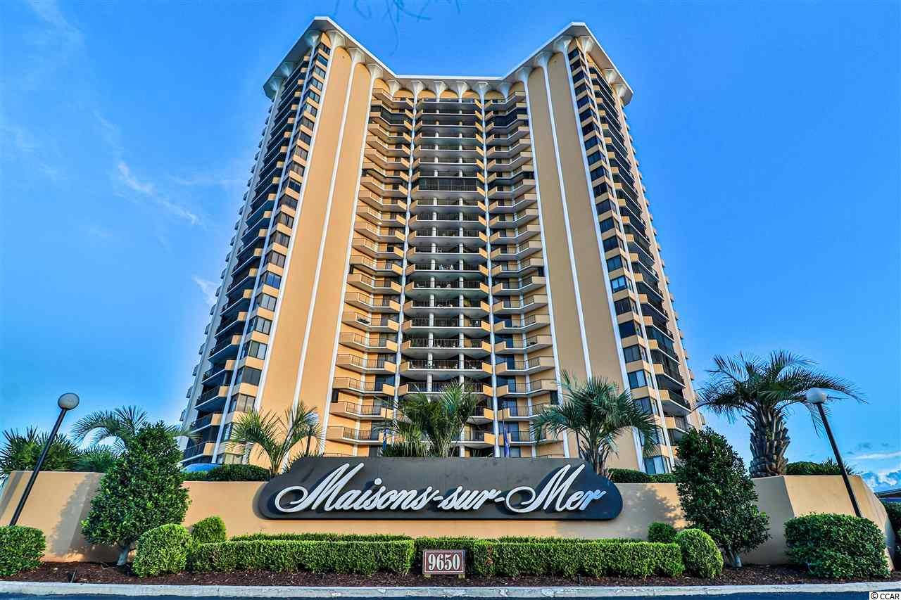 OPULENCE ON THE SHORE! This 2 bedroom, 2 bath OCEANVIEW condo is in the prestigious Maisons Sur Mer, which is an amenity packed luxurious resort in one of Myrtle Beach's most secluded beaches, Arcadian Shores. There are views from every room and the Master Suite has it's own private balcony! The breakfast nook is surrounded by glass so you can sit inside and still enjoy the gorgeous views even when the weather isn't cooperating. The decorating has been carefully chosen to be classical and upscale with the beach theme incorporated. HVAC and water heater less than 2 years old! This is the epitome of beach living! You have your own private spacious condo, but never have to leave the building; there are restaurants from casual to formal, a game room, a pool and hot tub, multiple sitting areas inside and out, a theater, and so much more. You have everything you need and more without ever needing to get in your car! This is the epitome of the laid back and carefree beach lifestyle and can be yours! Book your showing today! Call the listing agent with any questions.