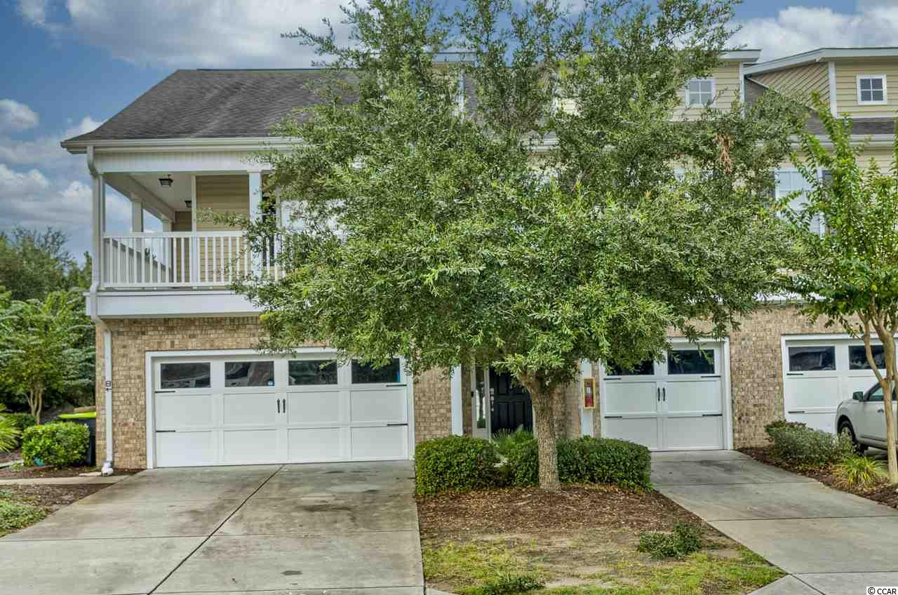 The Farm at Carolina Forest is a short drive to multiple areas of the beach, including shopping, dining, the airport, and the Atlantic Ocean. You'll love the amenities, including a gorgeous pool, basketball court, rec center, landscaping included, and more. This end unit offers a 2 car garage, as well as a downstairs office/sitting area with an adjoining half bath- perfect for working from home! Hardwood floors and tile cover the entire first floor. The large living room has ample space for your home theater and guests and leads to the large kitchen. The eat-in kitchen includes a breakfast bar, granite counters, crown molding on the cabinets, new appliances, and a walk-in pantry. The laundry room features shelving and a laundry sink. The garage has heavy-duty shelving over the garage door adding tons of extra storage space. Upstairs you'll find a large master suite with tray ceiling, walk-in closet, and spacious bath. The bathroom provides ample counter space, a shower, and soaker tub. The guest bedrooms of a great size and share a full bathroom. This home is well maintained and in an amazing location. You'll want to put it at the top of your list! Square footage is approximate and not guaranteed. Buyers responsible for verification.