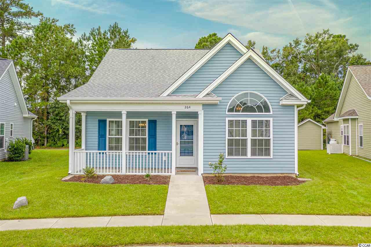 Welcome to 264 Archdale St.  This charming 3 bedroom 2 bath home located off hwy 707 is minutes away from the beach, shopping, golf, and even has access to a community pool with a private dock leading to the waterway!! This beautiful home built in 2014 has fresh paint, vaulted ceilings in the great room,  6' vinyl privacy fenced back yard, and attached rear load 1 car garage. Blinds will convey as well as all kitchen appliances and washer & dryer. Do you need more information on this home, VIRTUAL TOUR VIDEO or HOA Documents? Please contact the Listing Agent OR your real estate professional today! All measurements and data are deemed reliable but are not guaranteed, purchaser and or purchaser's realtor to verify.