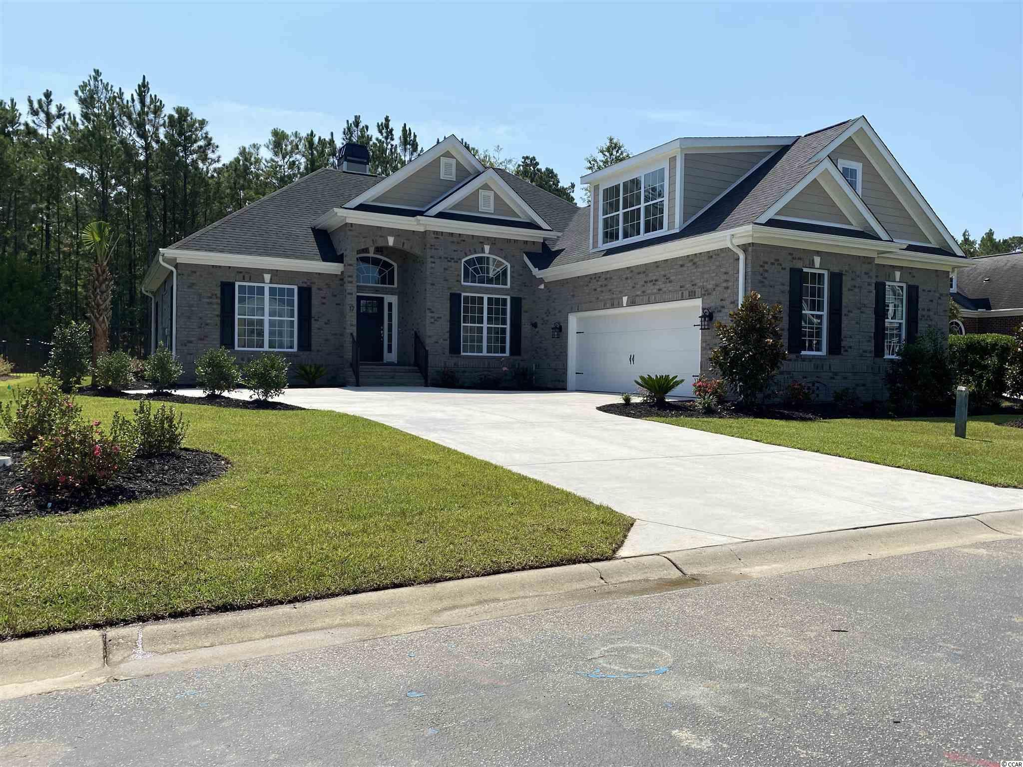 """Prince Creek area of Murrells Inlet! Home of the TPC Golf Course and the Dustin Johnson Golf School. A Custom home built in an upscale gated community on a cul de sac lot. Home will be built with great craftsmen shift and will have all the sizzle included. THE SIZZLE will include brick and concrete fiber siding exterior, granite counter tops, custom built 42 inch cabinets with specialized crown molding, vinyl plank floors, stainless steel appliances, tiled shower, gas fireplace, large kitchen center island, over sized bonus room, formal dining room, irrigation system with a professionally landscaped yard, custom light package, rear porch, courtyard driveway, Vaulted and trey ceilings and much more. Come see for yourself to many upgrades to list. Waverly Bay is an upscale gated community with all the amenities one would ever want. Starts with a gated access to a 10 acre amenity center area featuring - two pools with a clubhouse, tennis courts, bocce ball,basketball and volleyball courts, fire pits, walking trails, playground area, soccer field, covered outdoor pavilion with large fireplace, grills and picnic tables, community sidewalks and much more. Your not just buying a home your buying a """"LIFESTYLE""""."""