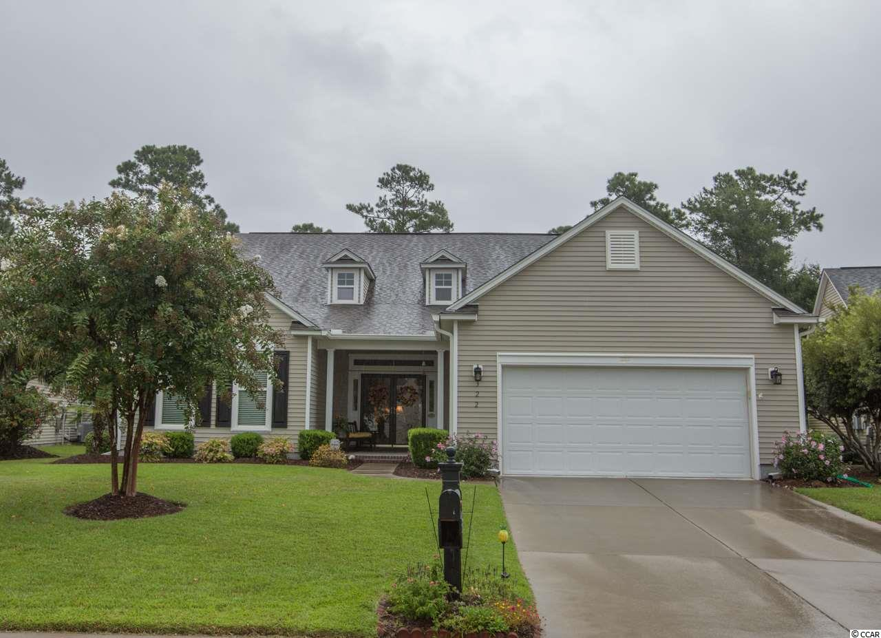 "Located in the Linksbrook community of Prince Creek this 3 bedroom, 2 bath home with almost 2400 heated/cooled square feet will knock your socks off! A welcoming front porch leads you to a double front door entry that takes you into this open floor plan that includes a spacious living room with a gas fireplace and custom bookshelves, a formal dining area, office/den area, and a beautiful kitchen with a center island, granite counter tops, custom 42"" cabinetry with pull outs, tile back splash, under cabinet lighting, double sink with a goose neck faucet, large pantry, stainless steel french door refrigerator, range, dishwasher, microwave, recessed and pendant lighting plus a wide bay window for your breakfast nook that looks out over the rear lawn. Just off the kitchen is a great room/Carolina room with french doors and windows that give extended views out to your private back yard. From here you can step out into the 17x12 screen porch and enjoy the serene setting and lush landscaping. Your owners suite boast a double tray ceiling with a oversized bay window that gives you a relaxing sitting area. The master bath includes a raised dbl vanity, soaking tub, separate glass enclosed shower, walk in closet with custom built in's for maximizing space. This split bedroom floor plan gives privacy to the master from the two additional bedrooms and guest bath. Additional features include 12 feet and vaulted ceilings, ceiling fans, crown molding, custom blinds, beautiful hardwood flooring in all living areas, hurricane shutters for windows and doors, whole house water cut off, irrigation, an oversized   21x24 - two car garage with a side service door, pull down stairs that lead to additional storage space, laundry tub and a 4x14 work space. HVAC May 2019/Water heater January 2020. PLUS community pool, tennis, work out room and clubhouse. Need more? Beaches, Murrells Inlet Marshwalk, Brookgreen Gardens, oceanfront State Parks and championship golf courses are all just minutes away! Call today to see this beautiful home in Murrells Inlet SC. Square footage is approximate and not guaranteed. Buyer is responsible for verification."