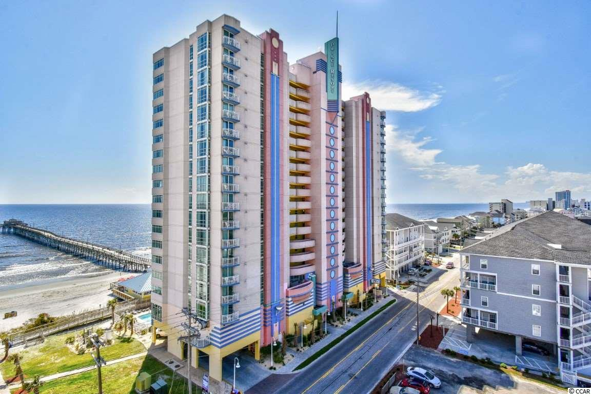 Welcome to this oceanfront 1 bedroom, 1 bathroom condo with a lockout feature in Prince Resort. This unit features a full kitchen equipped with all appliances, a dining area, and upgraded appliances and furnishings throughout. Enjoy the miles and miles of oceanfront views from  your 8th floor balcony, and spend your afternoons relaxing and the many resort amenities. Prince Resort is a premier resort with indoor and outdoor swimming pools, lazy river, hot tubs, fitness center, and onsite dining. The conference center also helps keep the unit rented. Conveniently located near all of the Grand Strand's finest shopping, dining, golf, and entertainment attractions, and just a few steps to the beach. Whether you are looking for a vacation get away or an investment property, you won't want to miss this one. Schedule your showing today!