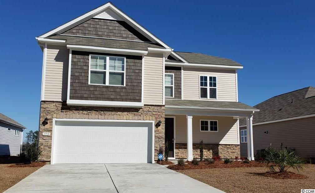 "The beautifully designed Belfort plan is now available in our brand new, natural gas community where you will enjoy a large clubhouse with sprawling verandas, impressive swimming pool, conditioned fitness center, fenced dog park, playground area, and blueberry garden! This two-story home is perfect for any stage of life offering a primary bedroom and laundry room on the first floor. Stacked stone elevation, inviting front porch and 8 ft. entry door with glass. This home also features a spacious kitchen with 36"" painted cabinetry, granite countertops, large island with room for stools underneath, walk-in pantry, and stainless Whirlpool appliances including a gas range. Beautiful wide plank laminate flooring flows through the foyer, kitchen, living room, and dining room with tile in all of the bathrooms and laundry room. Three nicely sized bedrooms, two full bathrooms, and a versatile loft space are upstairs! One bedroom is a self contained suite with an attached bathroom. This home will also feature a rear screen porch with water views. Ask an agent today about our industry leading smart home technology package that is also included in all of our homes!  *Photos and virtual tour are of a similar Belfort home.  (Home and community information, including pricing, included features, terms, availability and amenities, are subject to change prior to sale at any time without notice or obligation. Square footages are approximate. Pictures, photographs, colors, features, and sizes are for illustration purposes only and will vary from the homes as built. Equal housing opportunity builder.)"