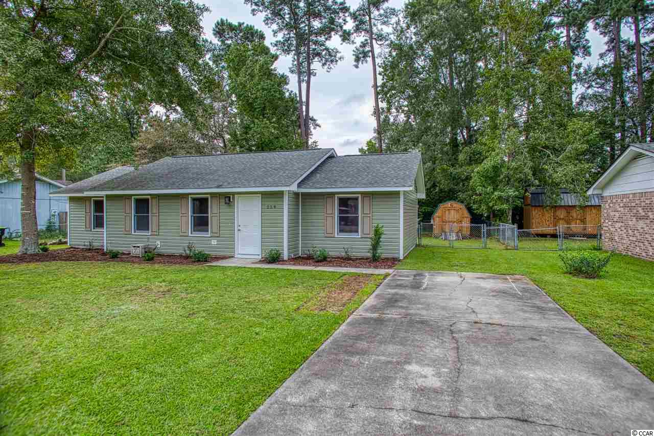 This 3 bedroom 2 bathroom fully remodeled ranch home in the NO HOA Bridge Creek community is a must see!. Owner has done some wonderful upgrades including all new siding, landscaping/lighting, HVAC unit in 2019 on the exterior. Interior has all new LVP flooring, kitchen cabinets, backsplash, stainless steel appliances, lighting/plumbing fixtures, paint and new bathroom vanities with granite!. Bridge Creek is conveniently located minutes away from Market Commons and all that Myrtle Beach has to offer. Book your showing today as this one will not last long. This home has never been Flooded and not in a flood zone.