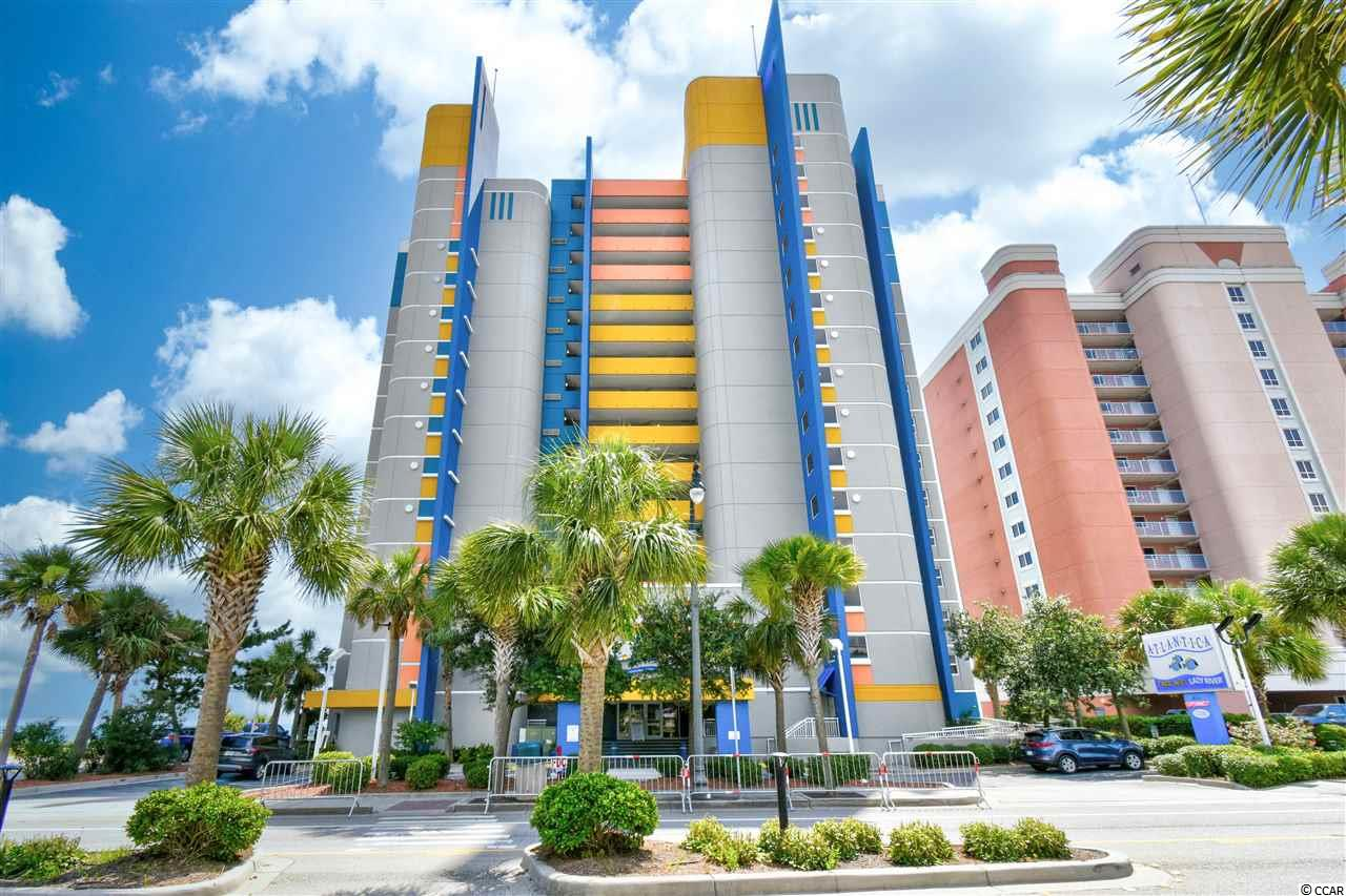 Beautiful end unit ocean front condo located in the Atlantica II. This 2 bedroom 2 bathroom condo is right in the heart of Myrtle Beach, just steps away from the coast and popular dining. Enjoy the updated cabinets, stainless steels appliances, solid countertops and tile that runs throughout the entire home. Step out on the private balcony and unwind with the sound of the ocean waves. The building features both indoor and outdoor pools, kiddie pool, hot tub and a lazy river! Schedule your showing today!