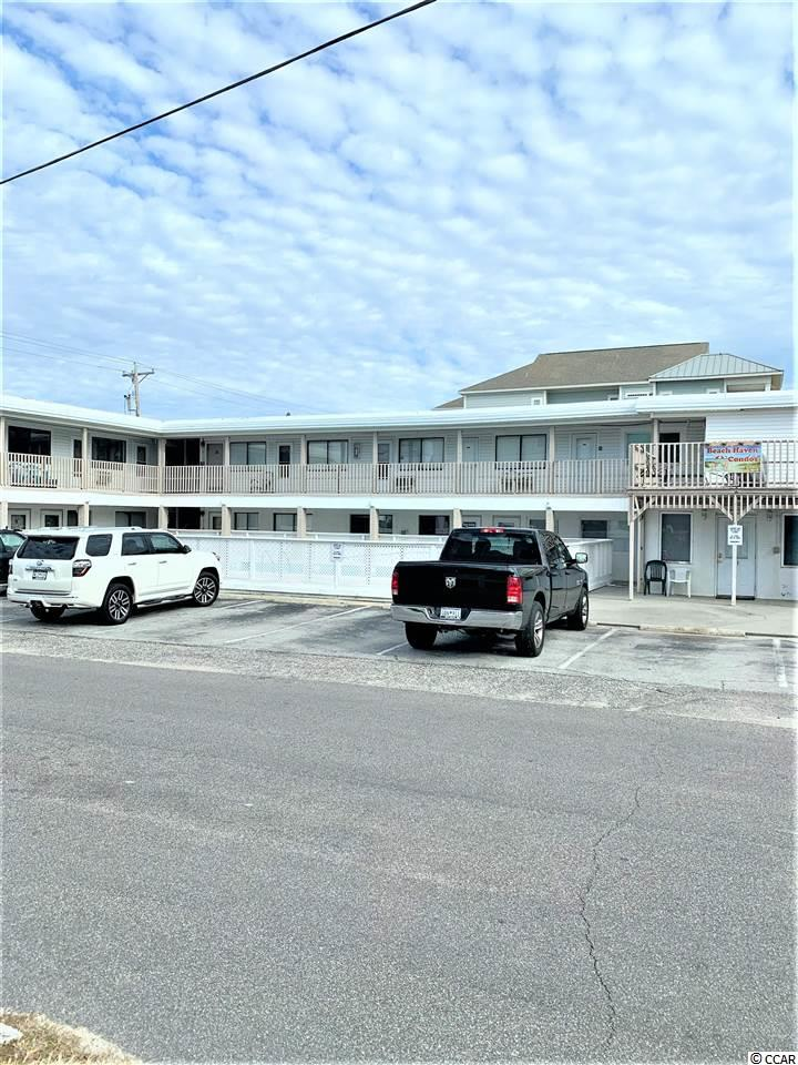 Great location in Cherry Grove, you really feel you are at the beach, with the ocean on one side and the inlet on the other side. Short walking distance from public boat dock and fishing pier, the inlet is great for the kayaker also. And less then a mile from the point of Cherry Grove . This unit is  true level ground floor units, no steps, it rents well, and can be short or long term rental . Get your piece of the beach at a great price today.