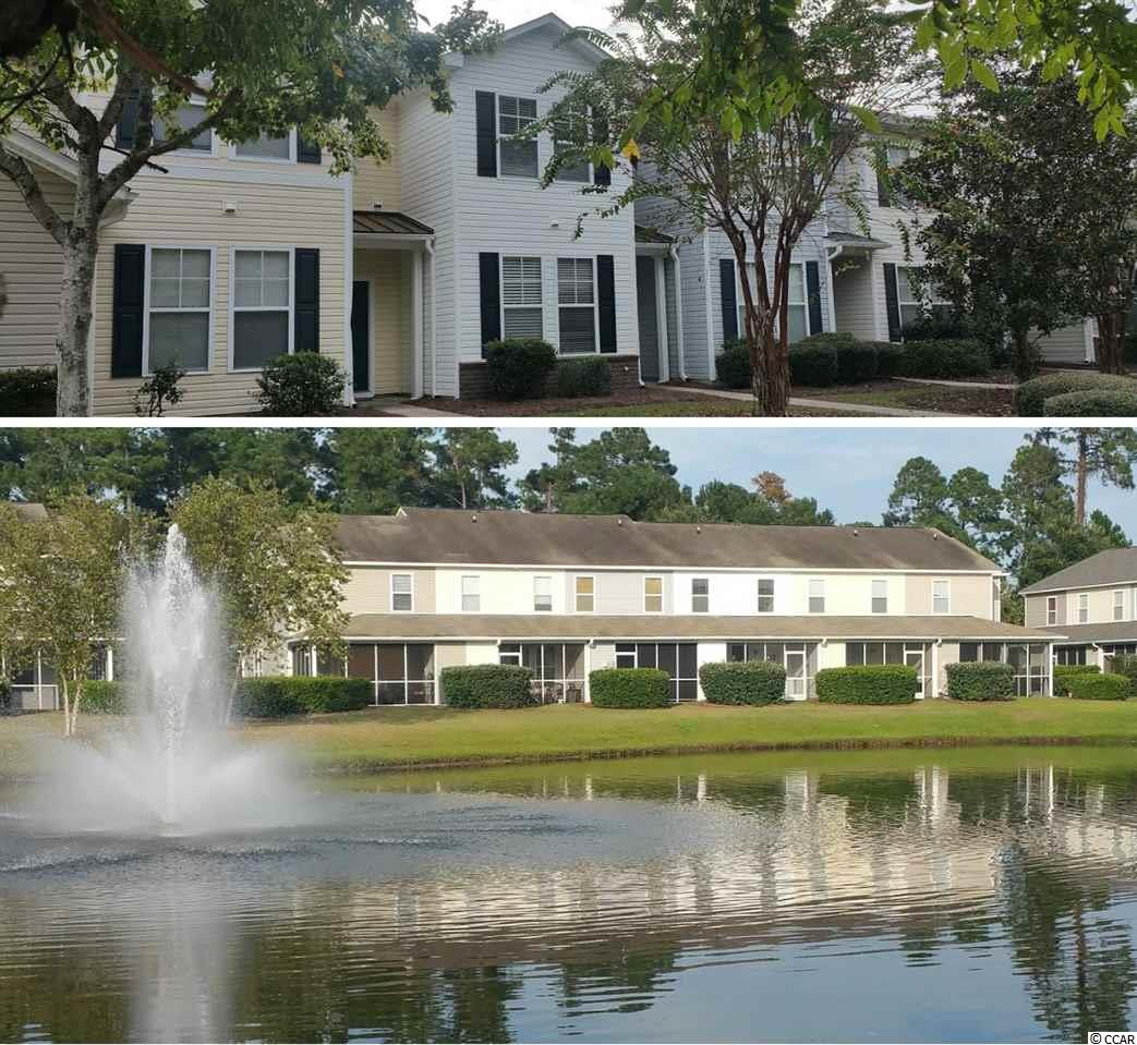 Tranquil, peaceful setting on small lake. 3 bedrooms & 3 full baths. One bedroom & one bath conveniently located on first floor. Screened porch offers relaxing water views. Much of interior has been freshly painted.  Condo is sparkling clean and move-in ready.  New LVP flooring in entry, hallway, downstairs bath & kitchen. HVAC new in 2018. Kitchen has breakfast bar. Large living room. Amenities include a pool, tennis, basket ball court, volleyball, and clubhouse. Only 3 miles to Coastal Carolina University; less than 2 miles to Horry-Georgetown Tech, Miller-Motte Technical College and Conway Medical Center. Golf courses, shopping & restaurants all within a few minutes drive. About 10 miles from airport and beach.