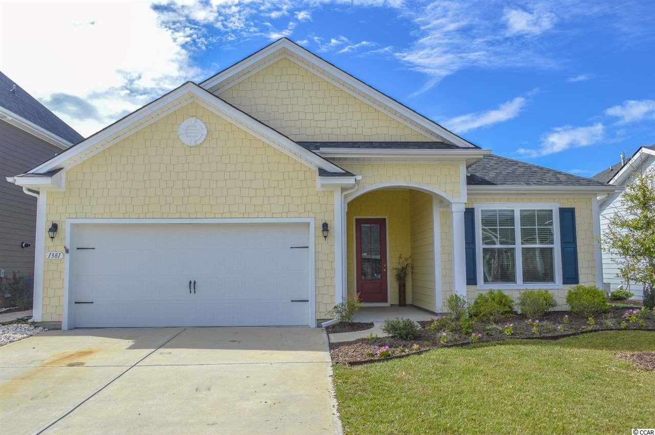 PRIME UPGRADED 3 bedroom 2 bathroom Eaton model ranch home for sale in the popular Market Commons community of West Lake. Conveniently located just off Highway 17 Bypass, Market Commons is home to some of the best amenities Myrtle Beach has to offer. From the multi-million dollar amenity center with fitness room and outdoor pools to the playgrounds, parks, and walking trails. Market Commons is also home to some of the best dining in town, shopping, movie theatre and a short drive to the beach! Home sits on a .13 acre lot and has an attached 2 car garage for additional parking and stair pulldown to the attic for storage. Exterior of the home features an oversized screened-in porch that the owners bumped out an additional two feet - complete with overhead ceiling fans and custom draw shades. Walking through the front door, you enter into a spacious foyer with two large bedrooms off to the right equipped with overhead ceilings, plenty of closet space, and a full bathroom in between which has a single sink bowl vanity & tub/shower combo with glass door. Walking through foyer you enter into the main living area and the first thing you notice is the spacious open style floor plan and the large amount of natural light coming through the home. Luxury gourmet kitchen features upgrades galore like 42' cabinets with glass fronts, granite countertops, high end stainless steel appliances, tile backsplash, drop lights, breakfast bar and a large walk-in pantry. Dining room area with overhead chandelier light can fit large dining room table sets with plenty of room to spare. Just off the kitchen there is another small foyer area with door access to the attached two car garage and door access to the laundry/utility room with washer/dryer connection & overhead storage. Jumbo living room features an overhead ceiling fan and sliding door access to the screened-in patio. Master bedroom is off the living room towards the back of the home and has a tray ceiling, overhead ceiling fan, walk-in closet, and additional separate door access to the screened-in patio. Master bathroom en-suite is equipped with a double sink bowl vanity, walk-in tiled shower with glass door, linen closet & private commode room. Home features tons of upgrades throughout like recessed lighting, crown molding, luxury plank wood flooring, ceramic tile, etc. Home must be seen to be appreciated - don't miss your chance and schedule your private showing today! Home is priced to sell and won't last long!