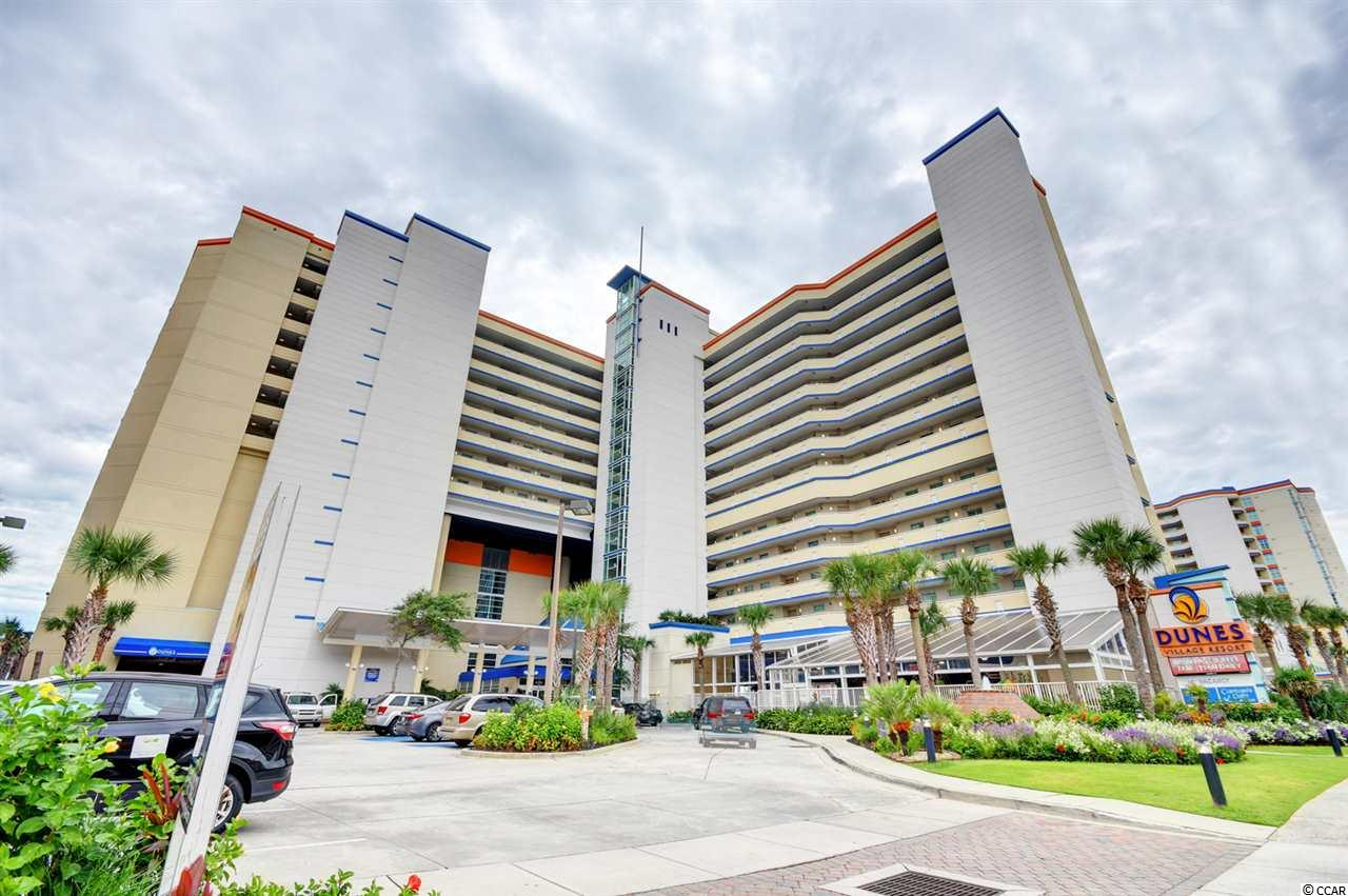 GORGEOUS three bedroom, two bathroom condo in the #1 rated resort in Myrtle Beach--Dunes Village! Imagine waking up to the beautiful ocean views from the master bedroom and living room of your perfect condo at the beach! The master bedroom offers access to the balcony and the master bath is equipped with a relaxing jetted tub. This condo is in one of the highest income producing resorts on the Grand Strand and offers amenities unlike any other. It comes with all the furnishings you'll need for vacationing or renting, a spacious kitchen with updated full size appliances, unbeatable views from the 12th floor, and endless things to do. Dunes Village Resort has something for the whole family including a full indoor water park with water slides and a lazy river, an enormous outdoor pool, hot tubs, a kiddie pool, an outdoor playground, a life-size chess board, putt putt greens, and so much more. There's a game room complete with pool tables, a ping pong table, shuffle board, arcade games, and the list goes on and on. The Resort features a full-service onsite restaurant, a covered poolside bar, a coffee shop serving Starbucks, a nice fitness center, and a media room. If you decide to venture away, you are just second away from the wonderful restaurants, shopping, and entertainment that Myrtle Beach has to offer. Now is your chance! Schedule a showing today!