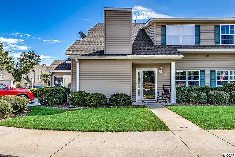Welcome to this bright and beautiful 3 bedroom, 2.5 bath townhouse in the charming Arcadian Lakes neighborhood. You enter into the living room which has vaulted ceilings and a gas fireplace as well as the gorgeous porcelain tile floors that continue through the home's main area. The open kitchen/dining area is perfect for entertaining family and friends. The kitchen has been uniquely redesigned to open up the space and is home to many upgrades including extended cabinetry, granite countertops, stainless steel appliances, and a brand new induction stove with a protection plan. Off the dining area is a Carolina room with a fireplace and wet bar which provides not only extra living and entertaining space but tons of natural light. The master bedroom is conveniently located on the first floor, with the second and third bedrooms upstairs for privacy. This is a very spacious home with large closets in all 3 bedrooms. This home has been extremely well taken care of with newly replaced premium carpets and completely upgraded bathrooms with all new floors, fixtures, fans, lights, and toilets. This particular unit also offers excellent parking with the ability to park just outside your own door with room for two cars and a golf cart! The home also comes with hurricane shutters as extra protection for any weather. Nestled between North Myrtle Beach and Myrtle Beach the location is second to none. Arcadian lakes is just a short ride to the ocean, shopping, golf, restaurants, and some of the best family entertainment on the beach. The community offers a pool and jacuzzi for its residents. HOA fees include: upkeep of the common areas, landscaping, pool, clubhouse, insurance of the building, water and sewer, trash pick up, cable and internet. It truly would make a perfect home.