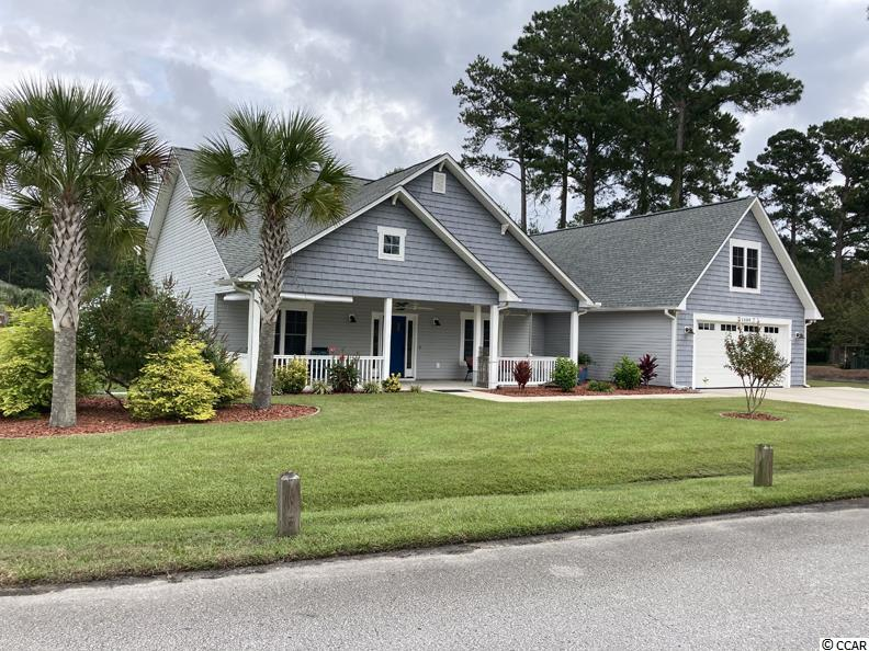 """CYPRESS BAY ESTATES Beautiful Custom Built 2015 Craftsman Low Country Home, 4 bed 2.5 baths, central vac, irrigation, large corner lot w/ beautiful palms and 37' cover porch to die for. Back 3-season covered porch w/ 30' X 9'10"""" outside patio w/ 220 service ready for spa. Huge fenced backyard and finished """"she shed"""" currently used as workout area that includes elec, AC, and slider. Oversized 24' 6"""" X 27' 2-car garage w/ separate secure tool room to keep all your tools out of sight. Huge above garage drop down storage. 30-Amp service outside garage wired for RV or golf cart. Side yard has fenced outside shower for cleanup after beach. Large kitchen and dining area w/ ample maple cabinetry, granite countertops, breakfast counter, pantry, and slider access to back porch. Master is 15' X 15' 6"""" w/ big bathroom that incl 2 separate granite counters and sinks, 2 walk-in closets, and extra-large tiled shower. Home has in-law suite potential w/ large rear bedroom, slider to back patio, big bathroom w/ walk-in shower, and 4th bedroom plumbed for kitchenette. NO DEEDED HOA. Not in Flood Zone. This home has it all!"""