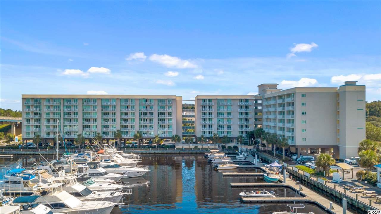 Spectacular Direct Waterway Views from this 2BD/2BA condo located on level 3!  Harbourgate Resort & Marina is located on the ICWW in North Myrtle Beach, SC.  Property Amenities include an outdoor pool and outdoor jacuzzi, enclosed lobby with front desk, on-site Filet's Restaurant, Freedom Boatclub, and deep boat slip rentals, boat rentals, jet ski rentals, waterway boat tours.  Salt-life!