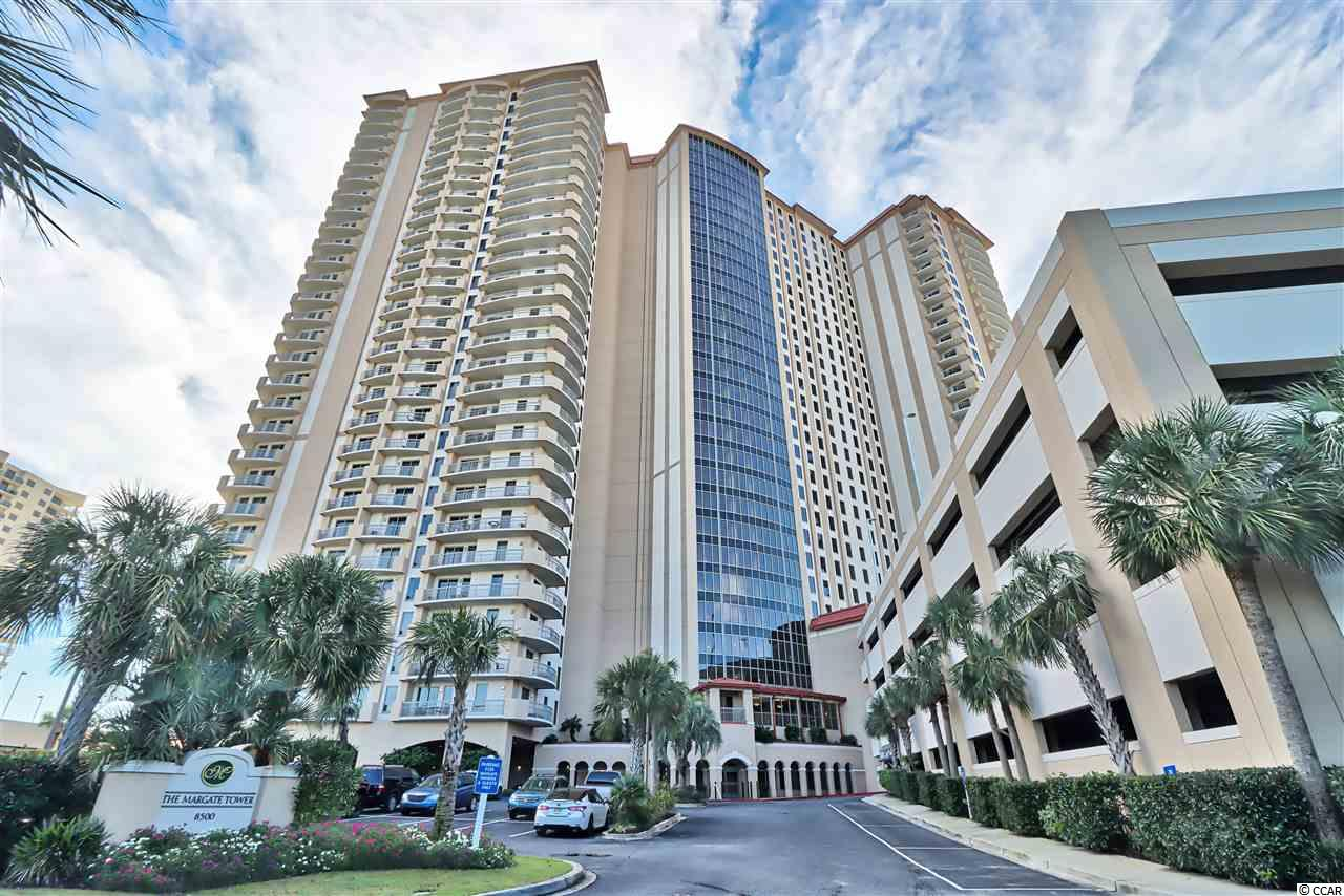 Ocean Front - Margate High Rise Building is the Premier in the Myrtle Beach area. This unit is  2,756 total square feet with 3 spacious bedrooms and 3 full bathrooms. The residence offers 9' ceilings and all Bedrooms and Living room open onto large spacious outside decks with amazing views.  Lots of closet space throughout plus an additional large owner's storage closet. There are 2 entrances into the unit, large laundry room off of the kitchen. This unit has been freshly painted ceiling to floor, new flooring, light fixtures, faucets, toilets, new shower, plantation shutters throughout, stainless steel appliances and much more!The Plantation offers amenities such as a 50,000 square foot Sport & Health Club, four clay tennis courts, twelve pools, badminton, croquet, beach volleyball , golf simulation room and huge putting green. 24-hour gated security in the plantation and in the lobby of the Margate.Perfectly located next to Restaurant Row, Tanger Outlets, and Barefoot Landing. This captivating home is ready for the discerning owner who demands the best. Majority of furniture can be purchased.Unit 1-108 is actually 2 floors up from the Lobby floor which is on the ground level.