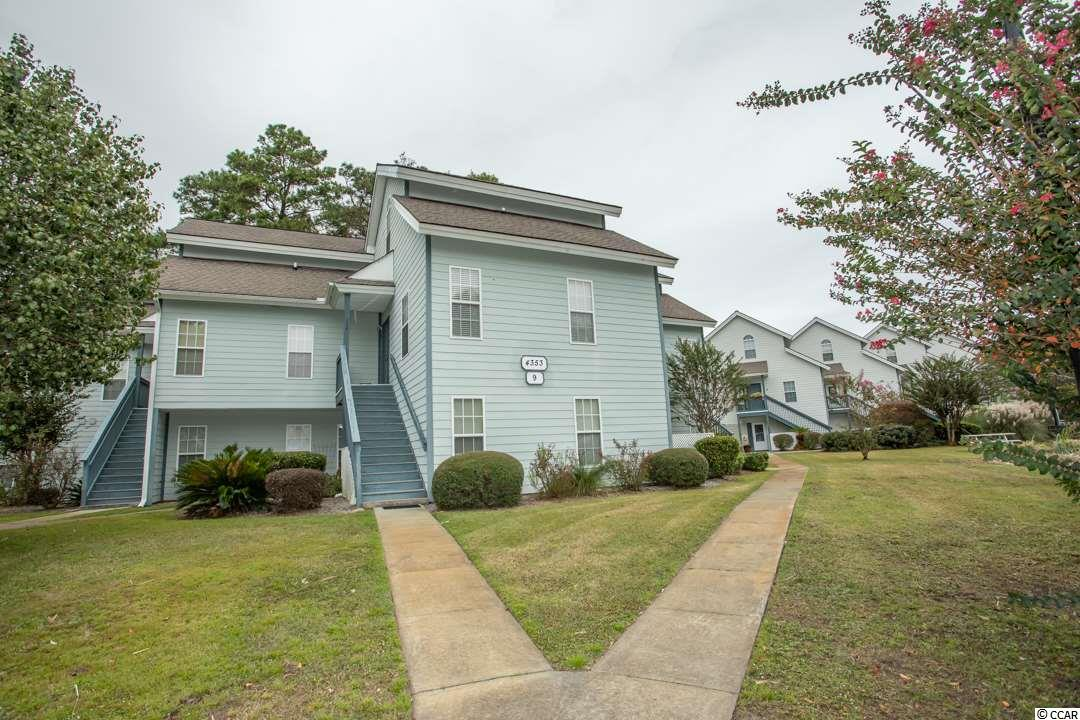 WOW. This is the one!  The Spa at Little River is off the beaten path nestled in behind the Life Quest fitness center off of Hwy 17, just 5 minutes to the beaches, restaurants and attractions in North Myrtle Beach. This end unit 2 story condo has been well maintained and nicely updated recently.  Enter to a foyer and open floorplan living/dining kitchen combo, bright and airy with vaulted ceiling and skylights, freshly painted in a light mint green, new laminate flooring in kitchen, hall, bath and bedroom on 1st floor, sliding doors to the quiet deck and mature trees in back. The kitchen has one-of-a-kind custom barn door cabinets and sliding doors on the pantry wall, updated stainless steel appliances and kitchen sink, breakfast bar and new light fixtures. The 1st floor corner bedroom (approx. 12 x 14) has 3 windows with great cross ventilation, new flooring (as mentioned), ceiling fan, walk-in closet and full bath.  Going up to the 2nd floor is bedroom #2, or bonus room, office ,guest suite (approx. 11 x 19) all new carpet, ceiling fan, full bath, linen closet and walk-in closet. The beautiful big windows in this unit give you 180 degree views of the property and pond.  Make an appointment to see this property, you won't be disappointed.