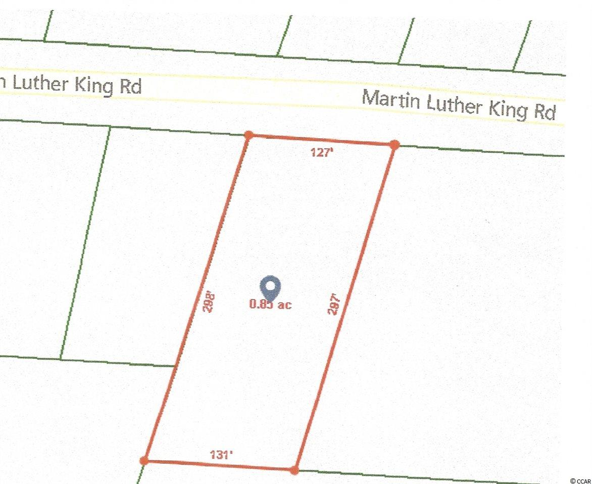 Beautiful .85 acre  wooded lot with 127' of road frontage on Martin Luther King Rd ready for your new home.   Close to all Pawleys Island has to offer.