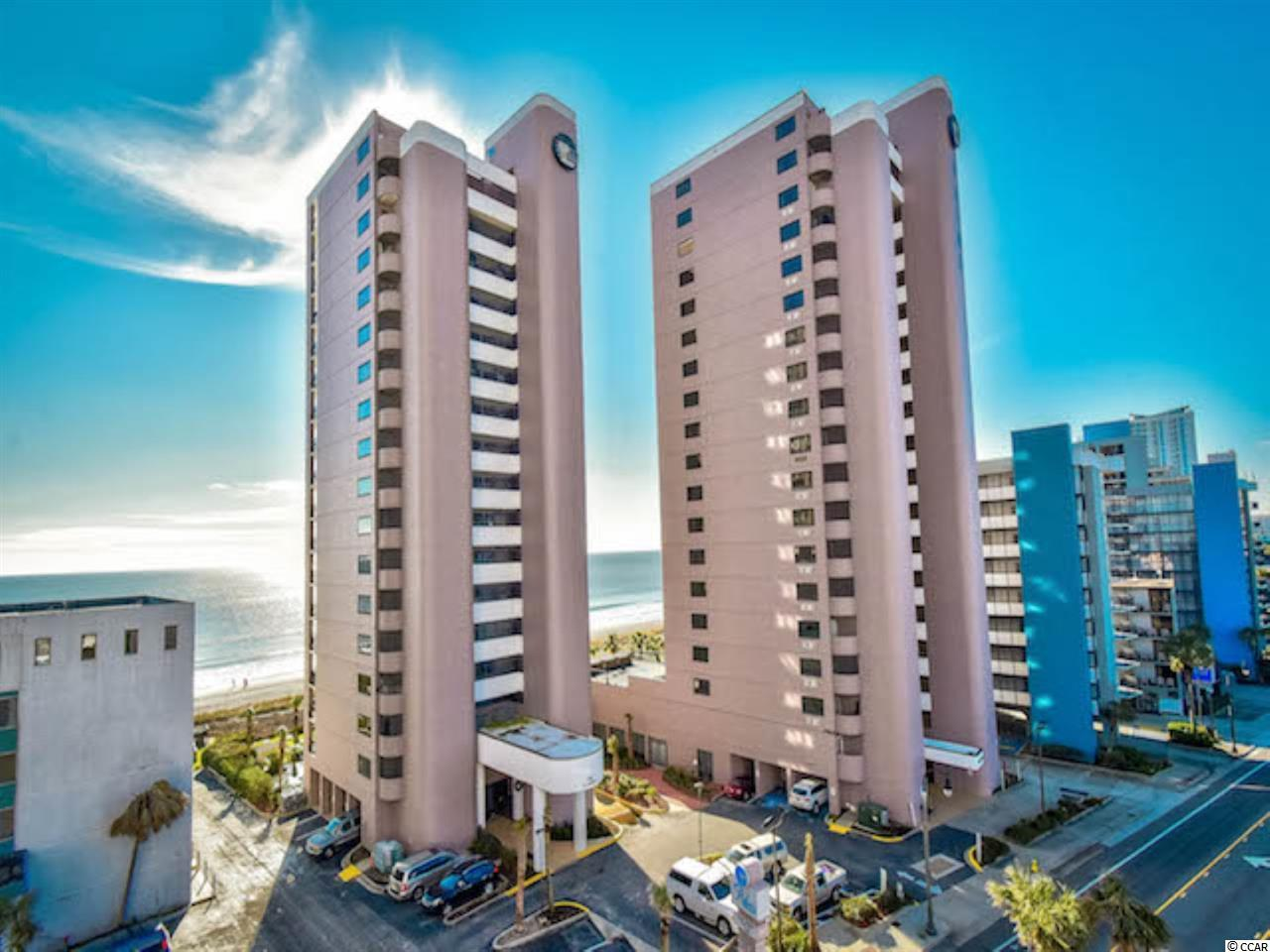 Luxury living at it's finest in this Myrtle Beach 2-story Penthouse Suite!  Rare opportunity to own one or both of the Penthouse suites at The Palms Resort. Both condos are very nicely furnished and will welcome you home with  beach-themed decor. After a busy day enjoying all of the amenities that are offered, you can relax  and enjoy the wall mounted flat-screen TV.  Sit at the breakfast bar or dining room table and enjoy visiting with family and friends while you create a fabulous meal in the fully furnished kitchen. A full sized washer and dryer are conveniently located right in the kitchen.  From the comfortably furnished living room, open the sliding glass doors to the balcony and  enjoy the beverage of your choice. The view from the Penthouse Suites is unmatched anywhere in the area! You have an incredible view of the Atlantic Ocean. Listen to the rolling waves all night long as the sliding glass doors in the large master bedroom also open onto the balcony. Take the private walkway to a grassy area furnished for your enjoyment with lounge tables and umbrellas or continue onto the white, sandy beach. This luxurious, seaside retreat is located in the heart of Myrtle Beach, one of the most enjoyed vacation destinations along the East coast. The breathtaking, oceanfront location means that access to the gently rolling waves of the Atlantic Ocean and the beautiful, white sand beaches of the Grand Strand are just steps away. The resort offers 6 pools and spas and is located just blocks away from all of the shopping, dining and entertainment that Myrtle Beach has to offer. Enjoy Penthouse living for yourself and family and makes a great investment property.